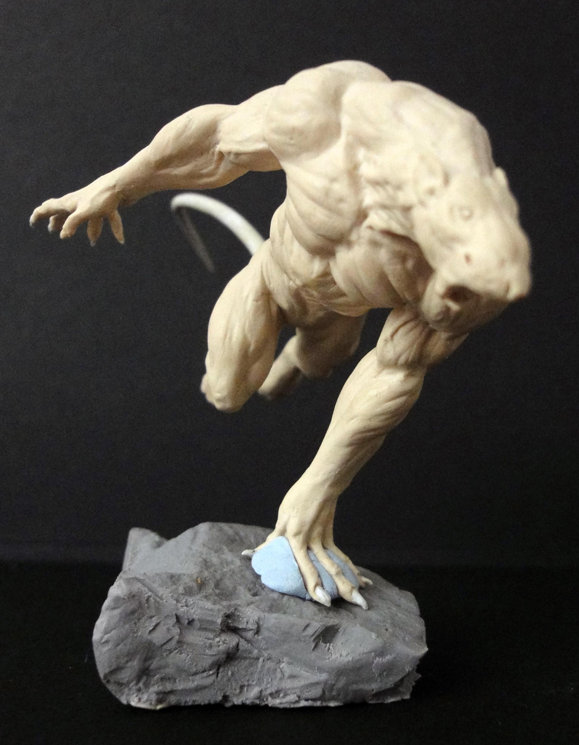 Rat Ogre, Sculpting, Work In Progress