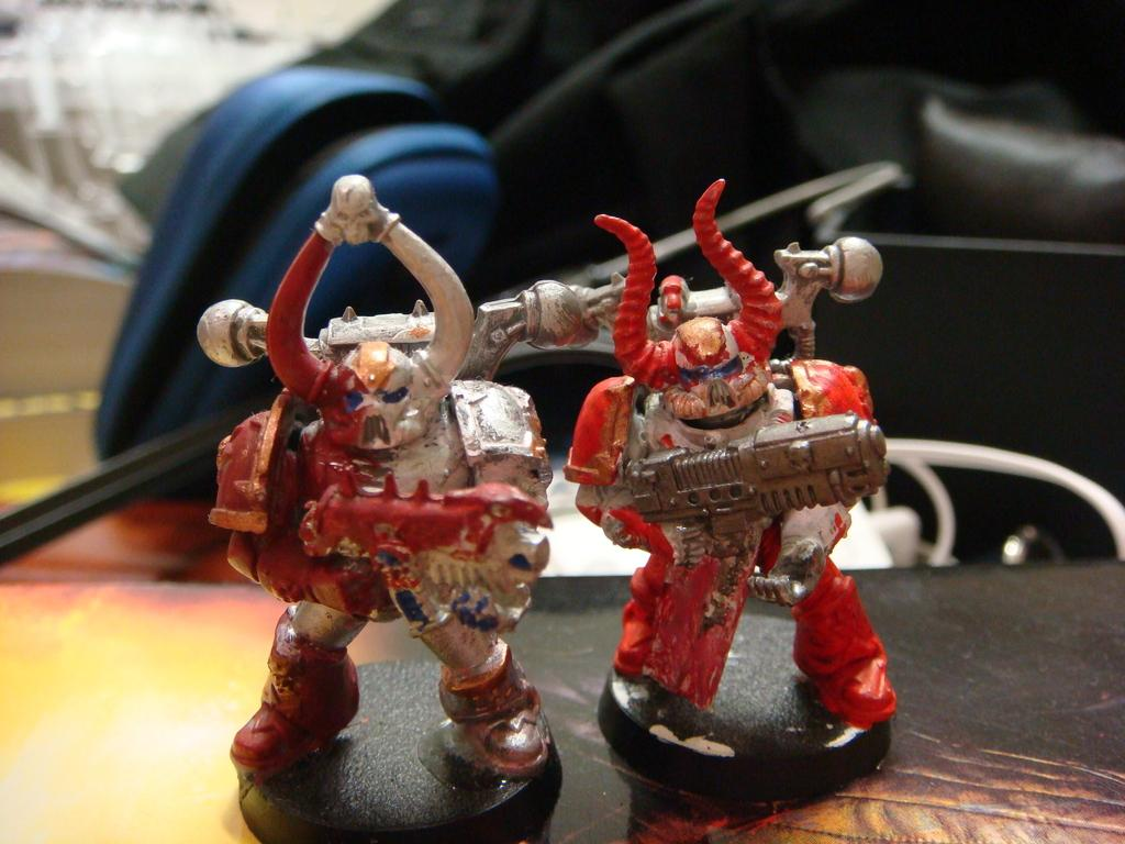 Chaos Space Marines, Poster Paints