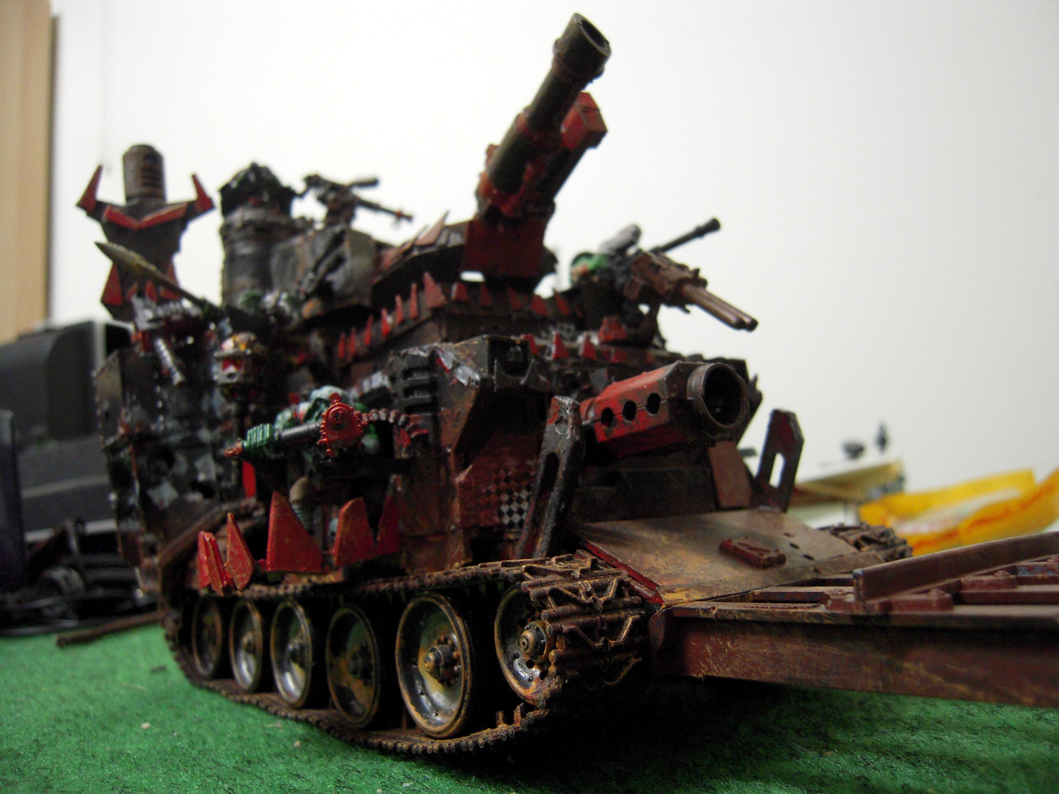 Apocalypse, Apocalypse Army, Battle, Battle Fortress, Battlewagon, Conversion, Goff, Heavy, Kannon, Looted, Looted Wagon, Massive, Orks, Rust, Rustic, Scratch Build, Super-heavy, Support, Tank, Warhammer 40,000