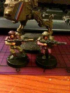 Cadians, Imperial Guard, Infantry, Khaki, Purple, Sentinel, Warhammer 40,000