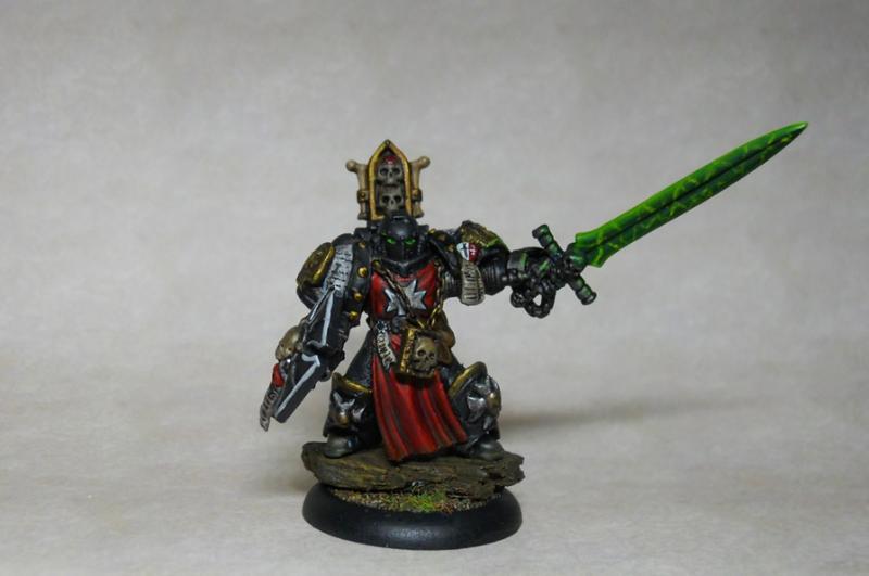 Black Templars, Command Squad, Conversion, Force Weapon, Storm Shield