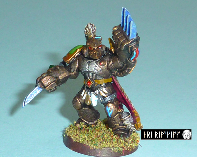 Acrylic Paints, First Model, Space Marines, Space Wolves