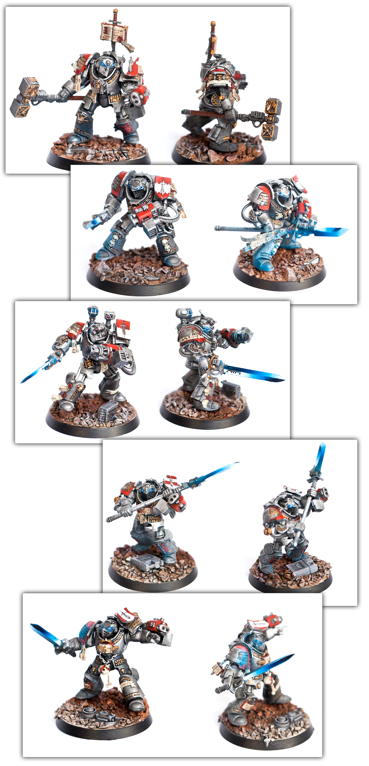 Force Weapon, Grey Knight Terminators, Object Source Lighting, Space Marines