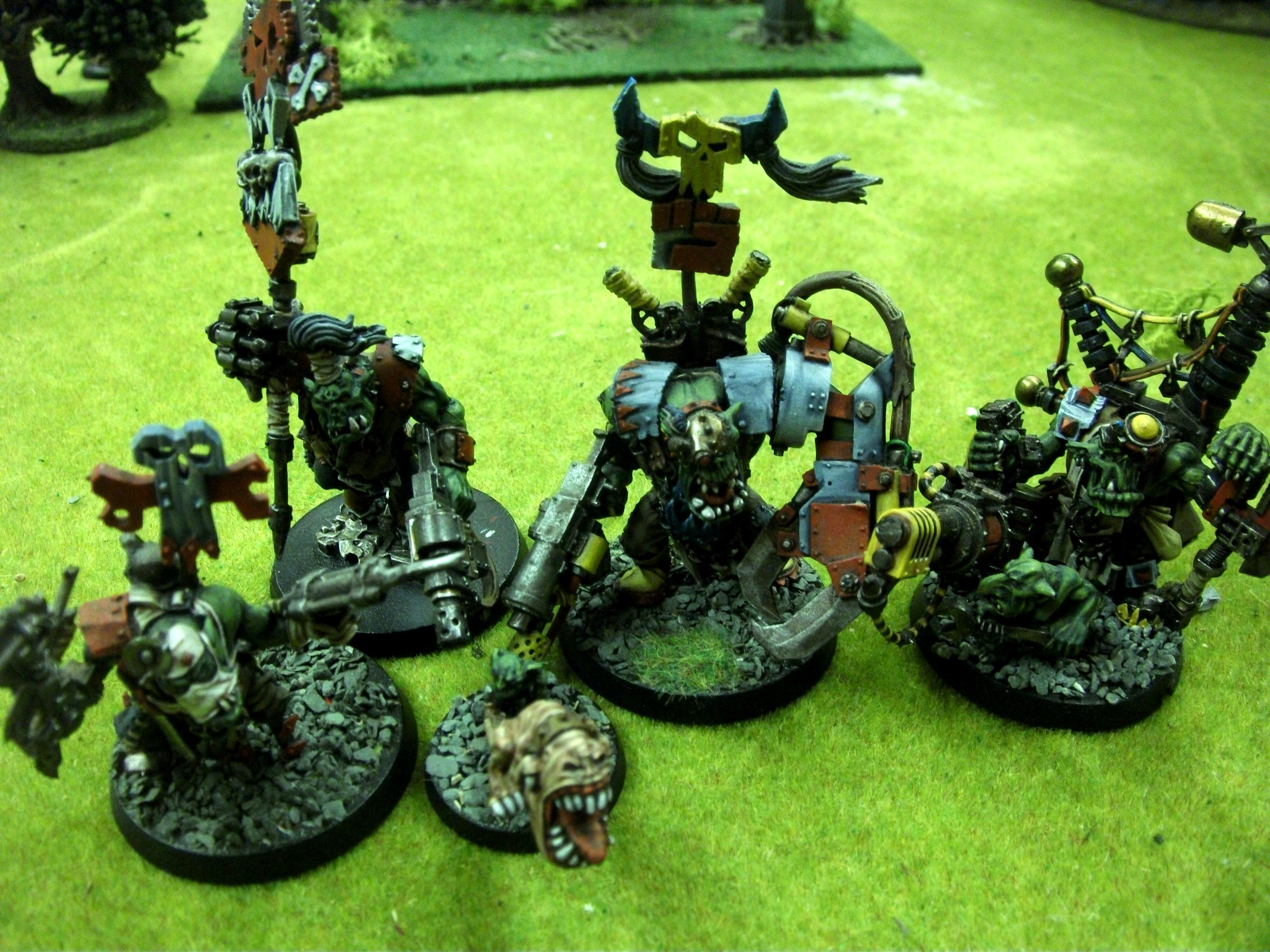 Command Squad, Headquarters, Ork Stompa, Orks, Warboss