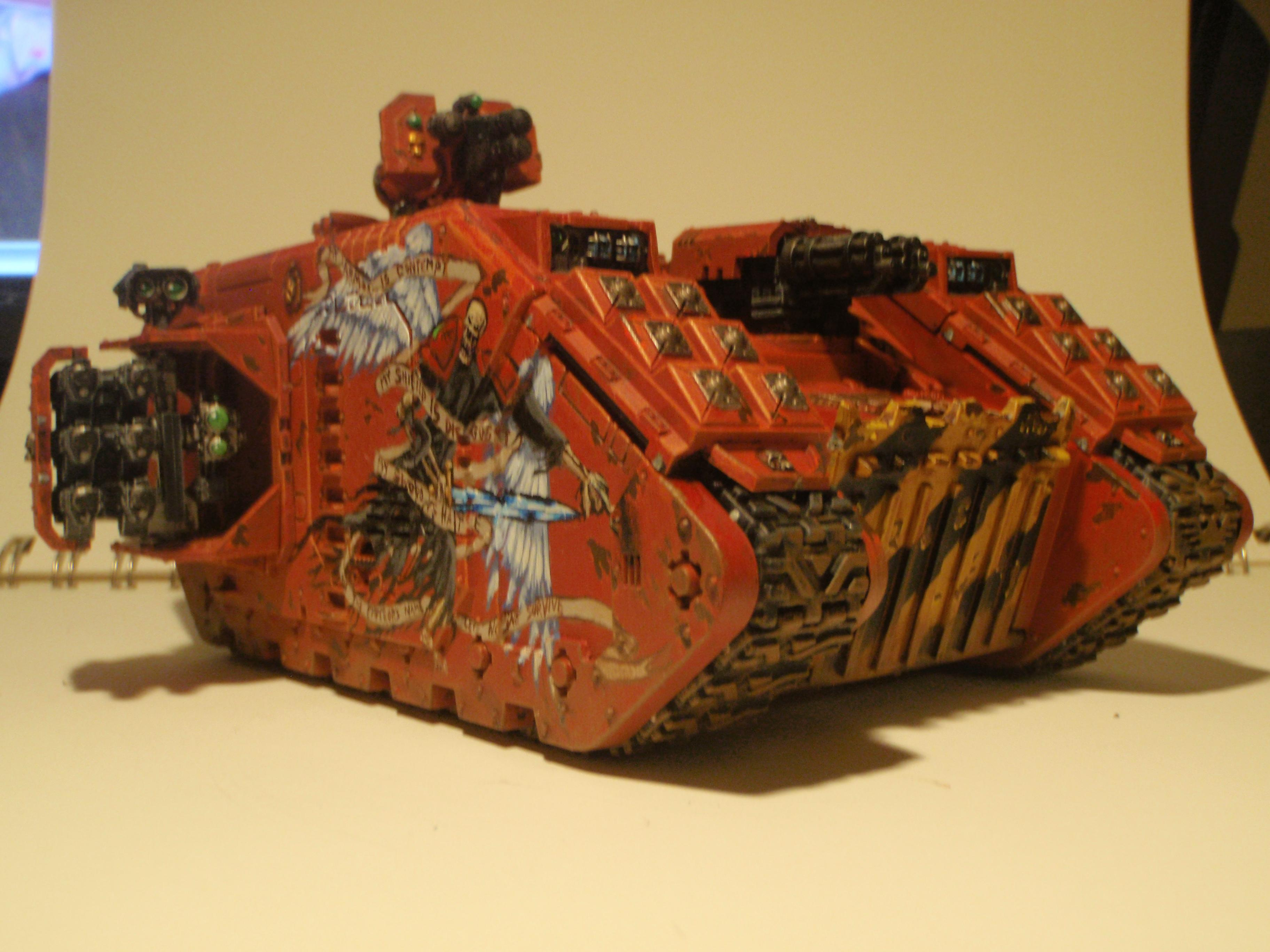 Angel, Artwork, Blood, Blood Angels, Crusader, Death, Dreadnought, Freehand, Imperial, Land Raider, Red, Sanguinious, Space Marines, Tank