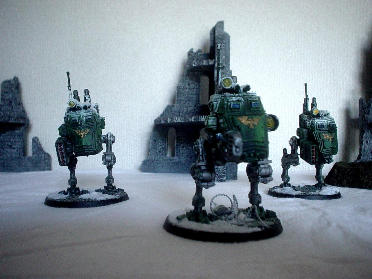 Imperial Guard, Sentinel, Snow, Urban Base, Warhammer 40,000, Weathered