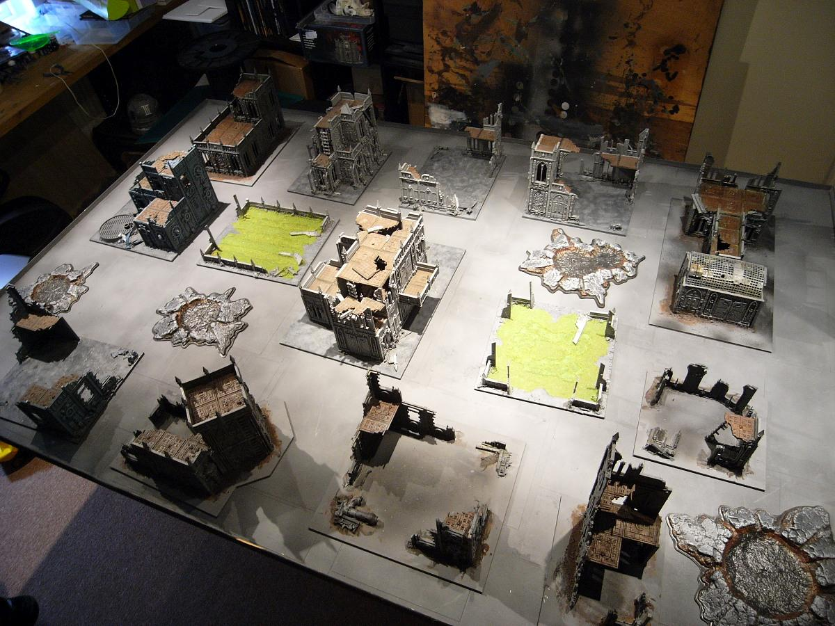 Cities Of Death, Crater, Diorama, Game Table, Gameboard, Games Workshop, Ruins, Terrain, Warhammer 40,000