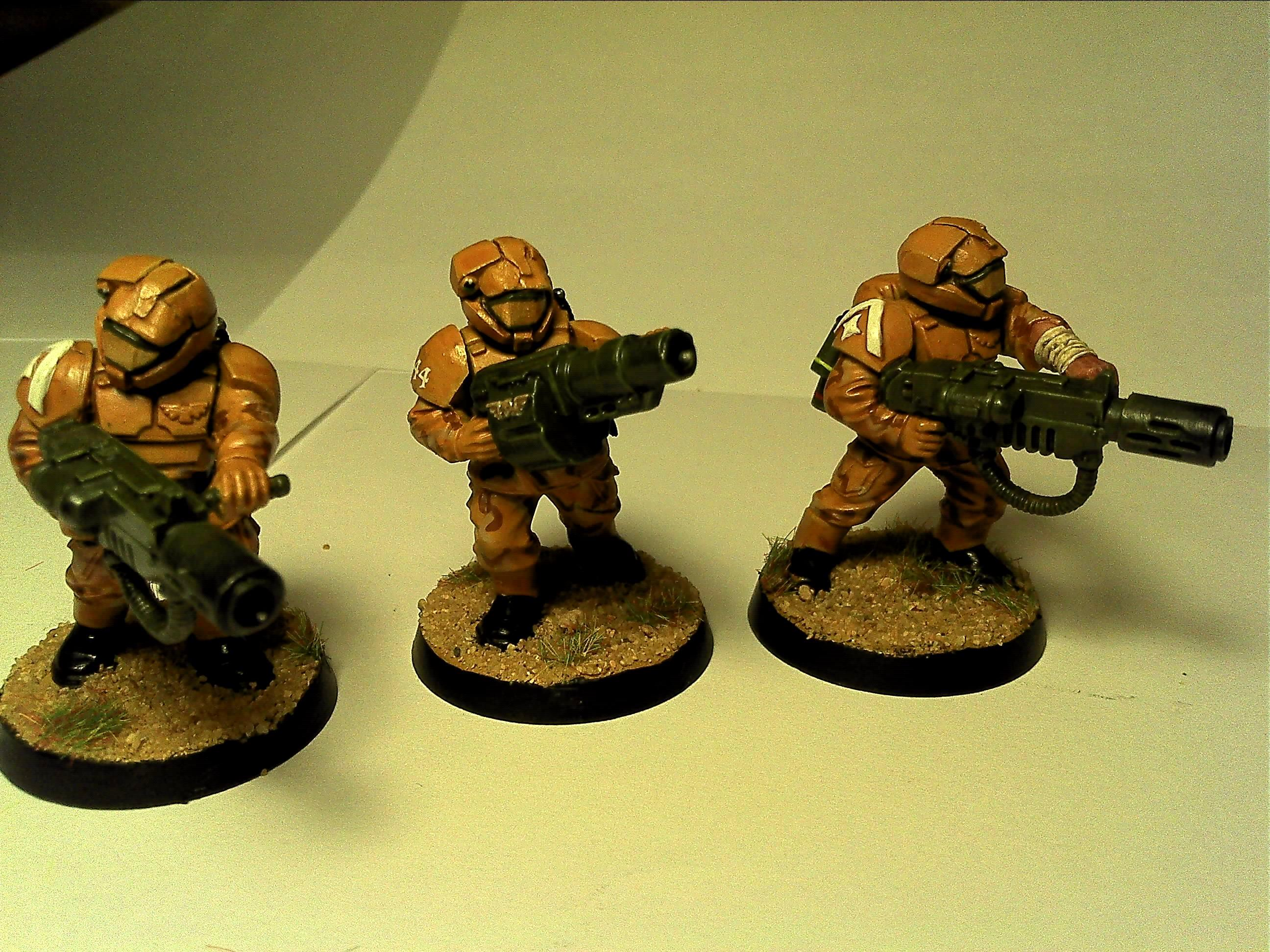 Camouflage, Conversion, Desert, Halo, Imperial Guard, Meltagun, Veteran
