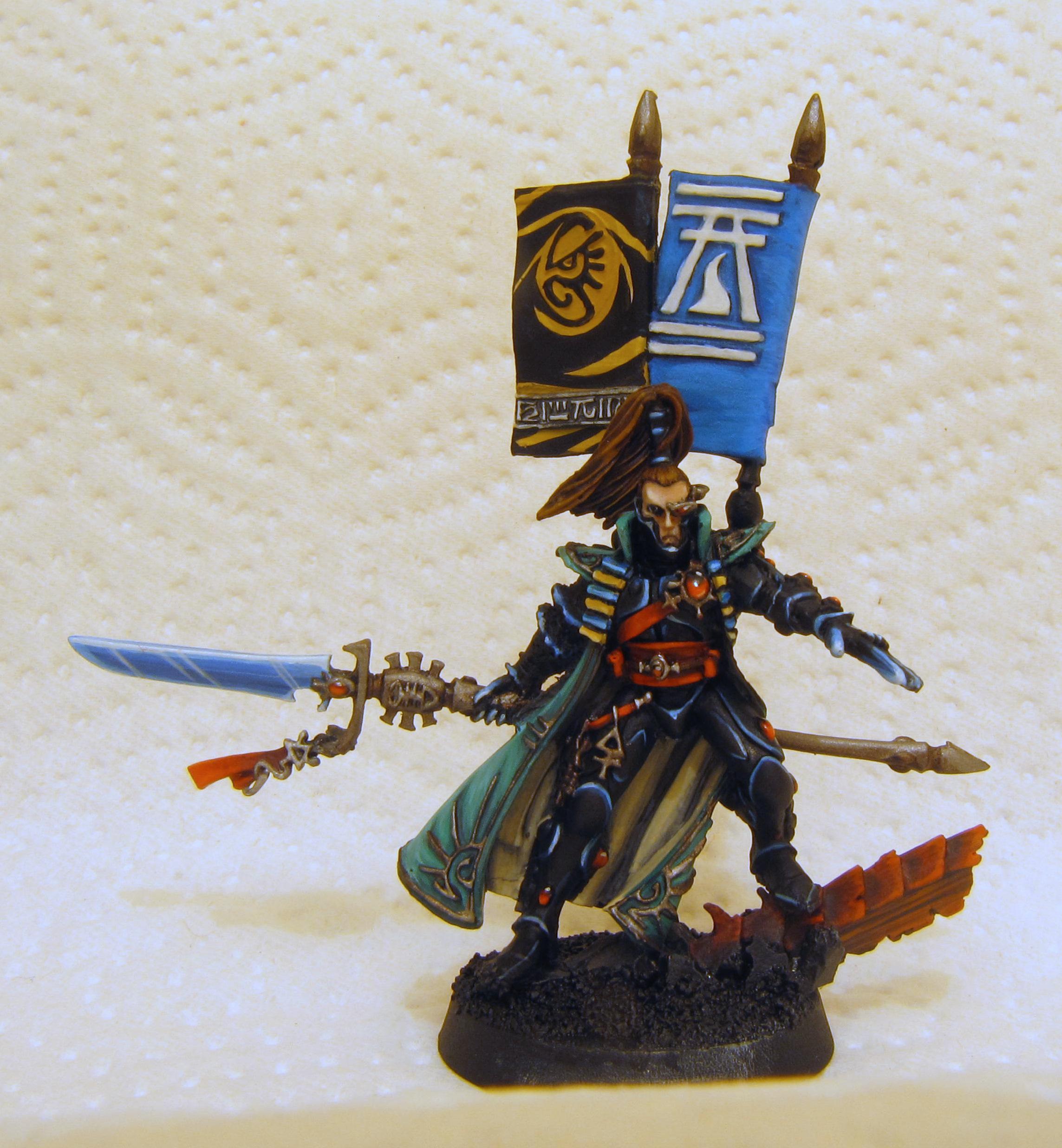 Banner, Eldar, Power Weapon, Warhammer 40,000, Yriel