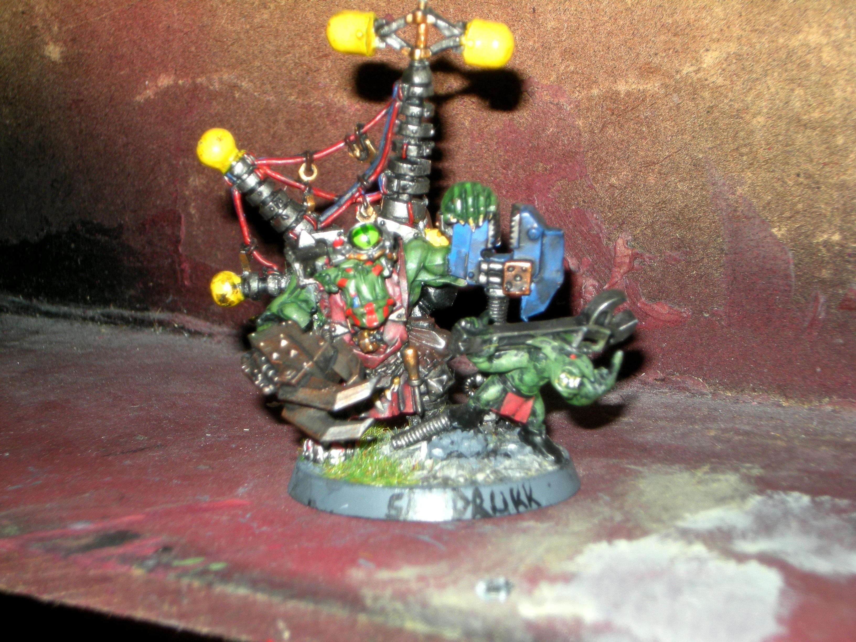 Big Mek, Bluddtoofs, Blue Spannas, Grots, Kustom Force Field, Orks, Power Klaw