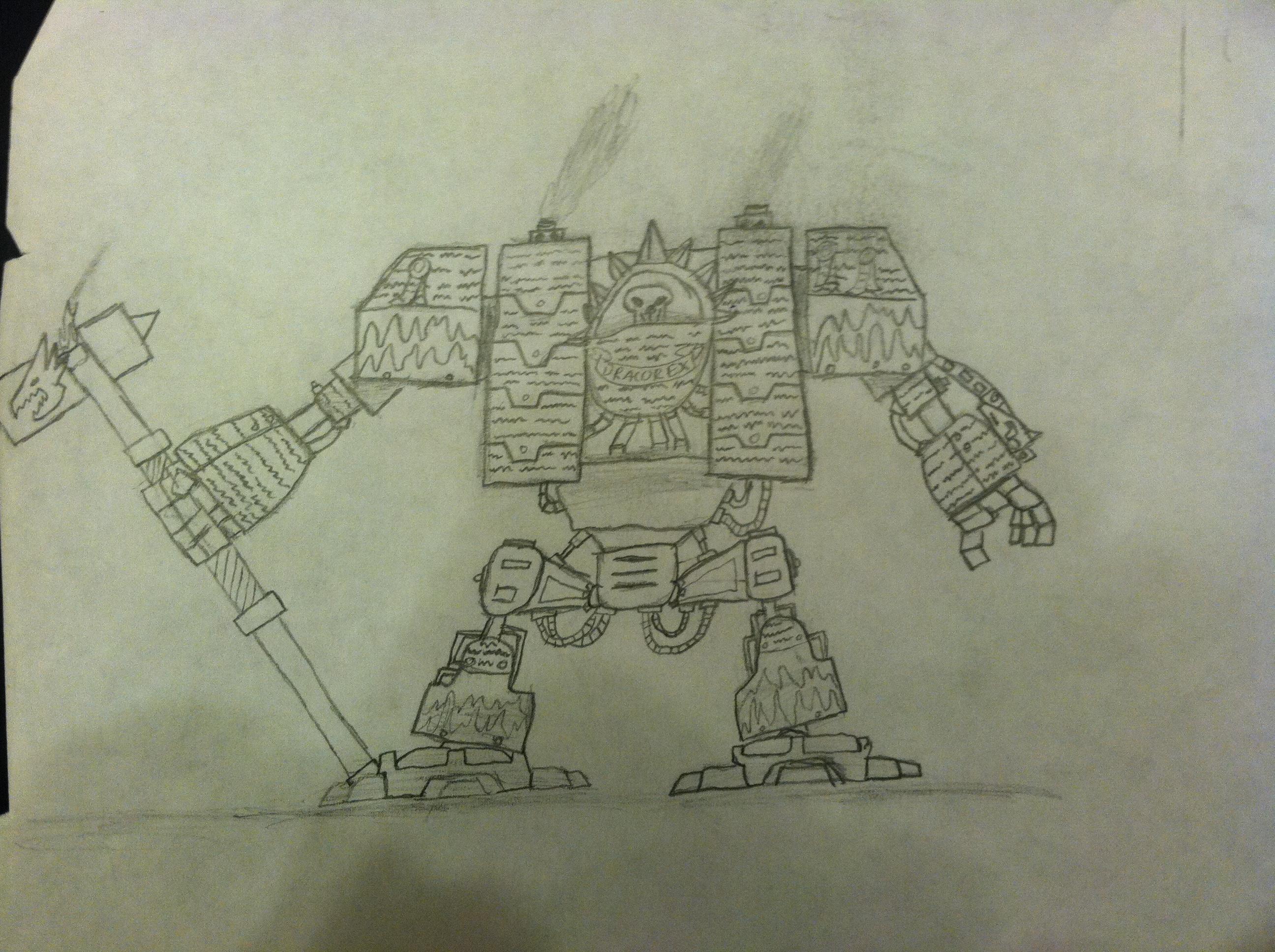 Artwork, Dreadnought, Space Marines