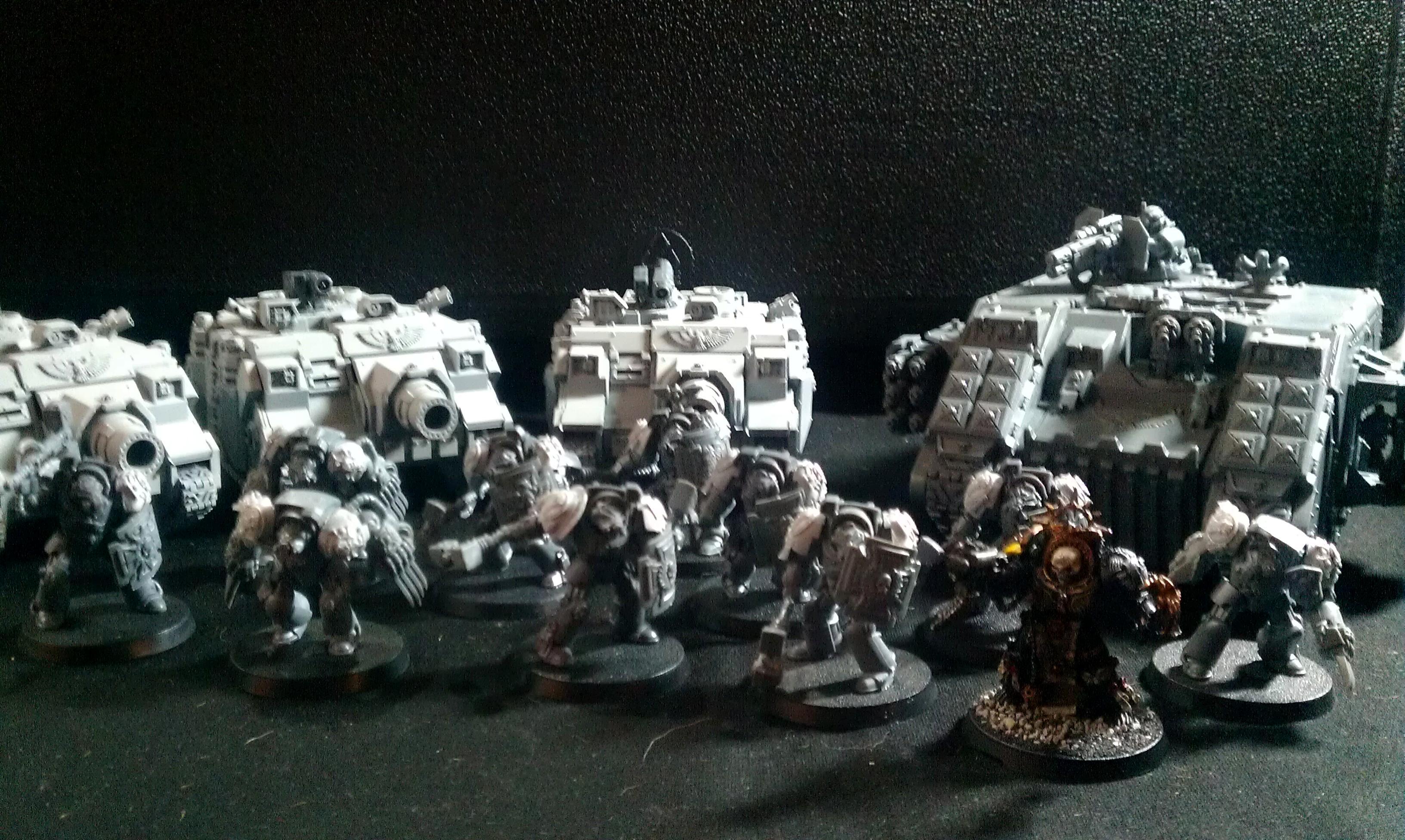Chaplain, Imperial Fists, Land Raider Redeemer, Terminator Armor, Vindicator