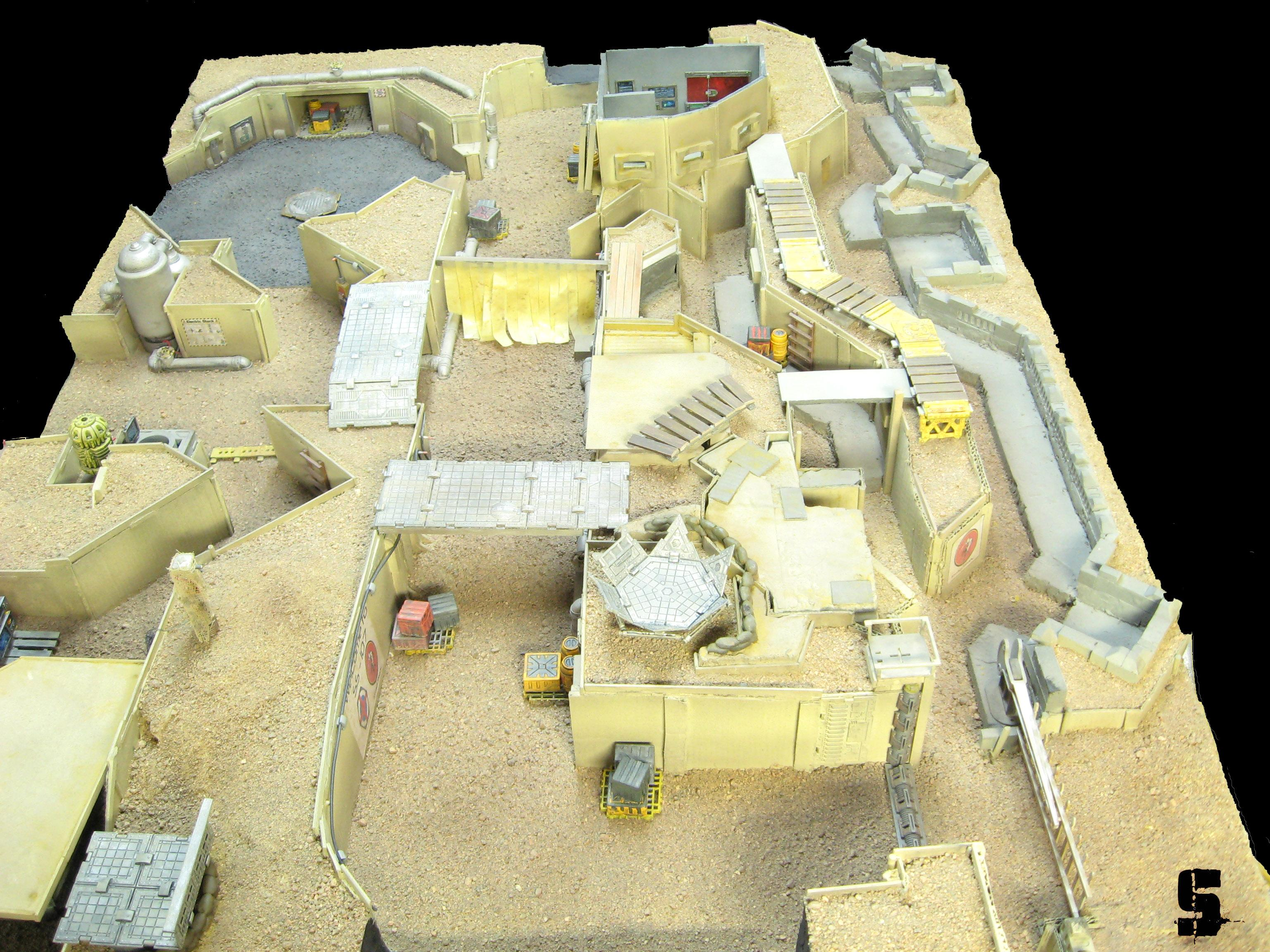 28mm, Commission, Desert, Infinity, Saw, Terrain, Trench, Warhammer 40,000