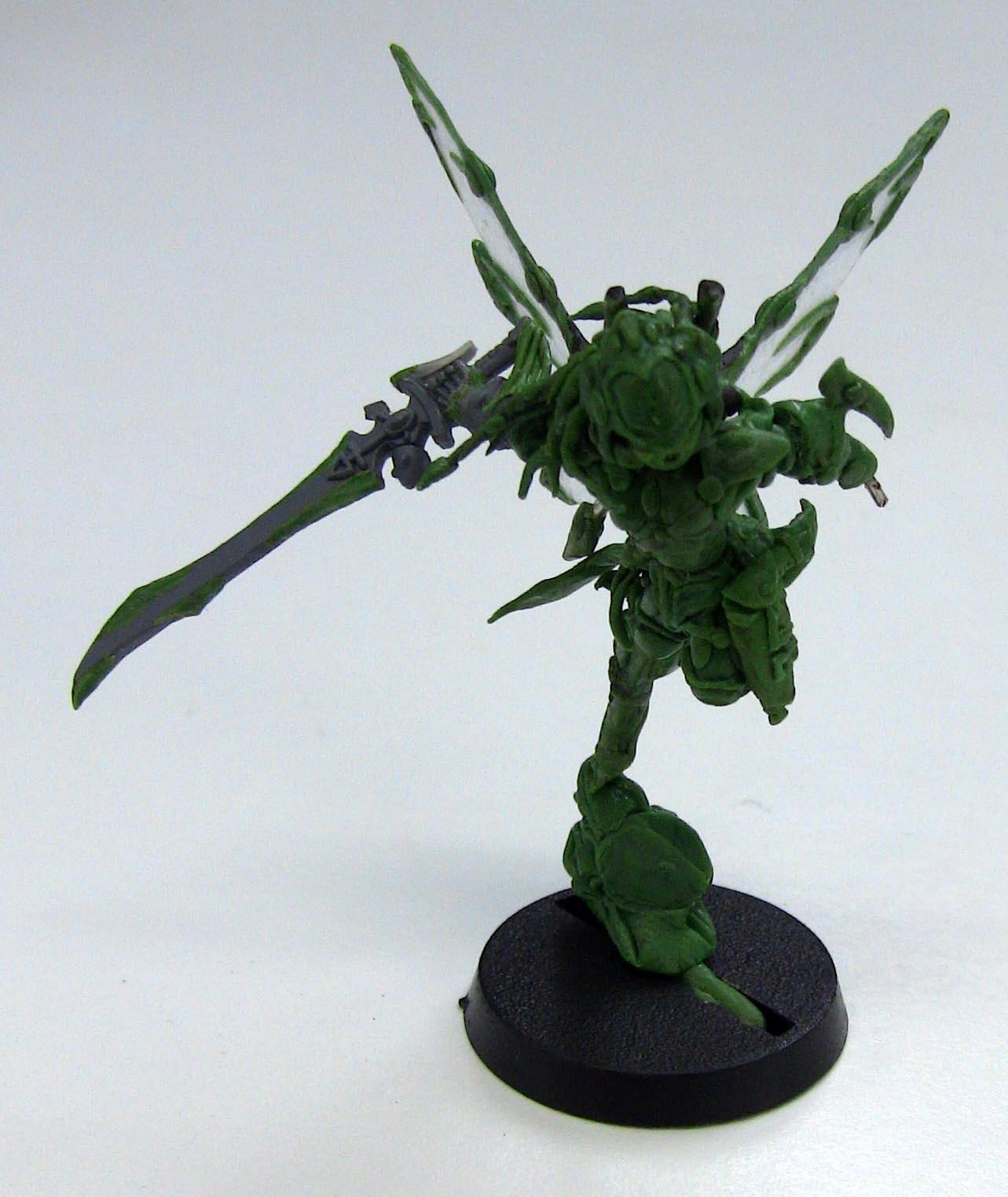 Autarch, Corsairs, Eldar, Eldar Corsair Autarch Fairy Fae Wings Green Stuff, Fairy Fae, Greenstuff, Warhammer 40,000, Winged, Work In Progress