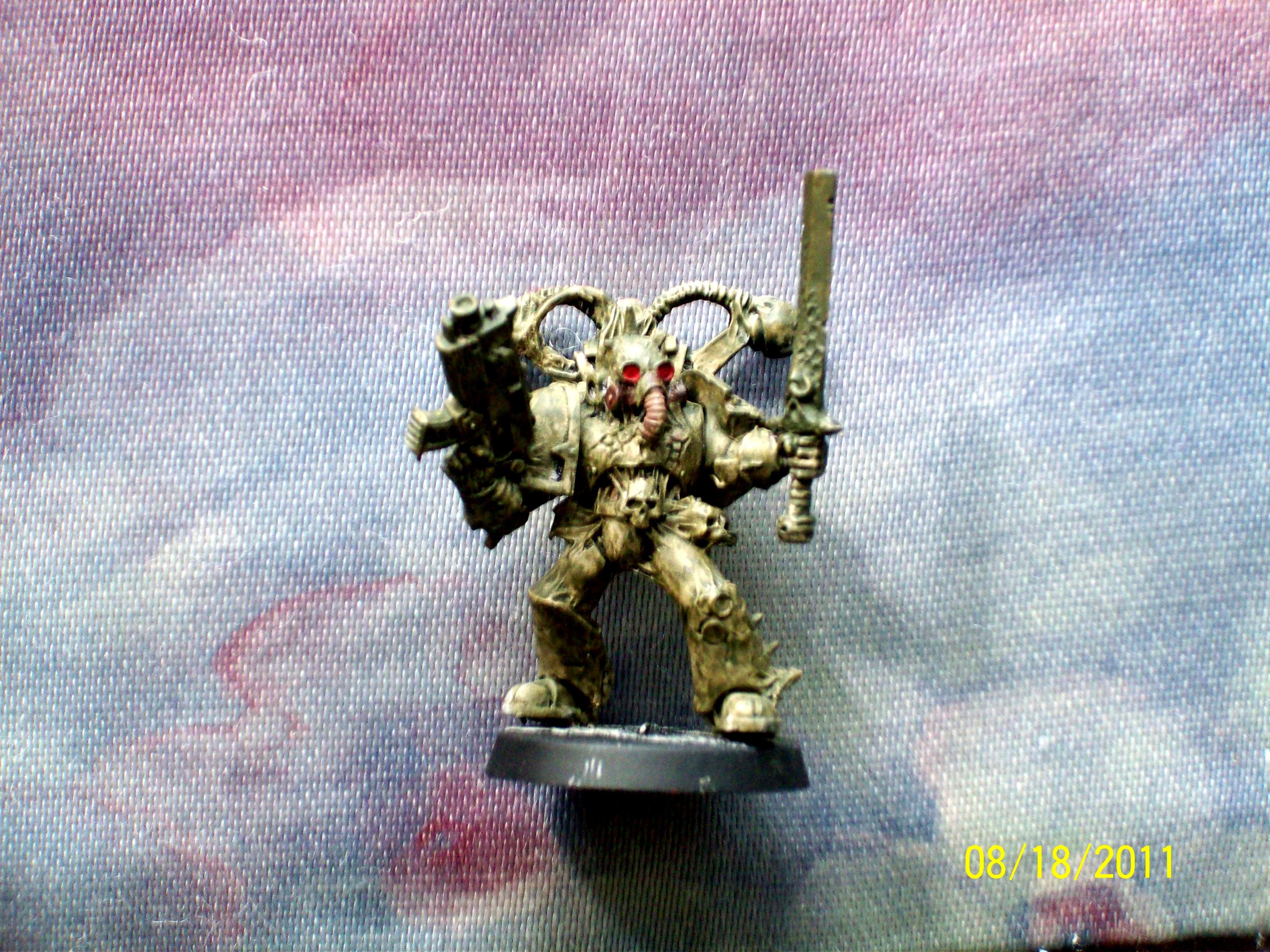 Champion, Chaos, Nurgle, Plague Marines