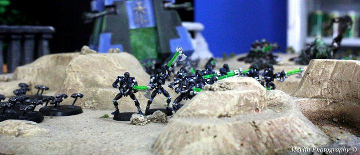 Necron Warriors, Necrons, Scarabs