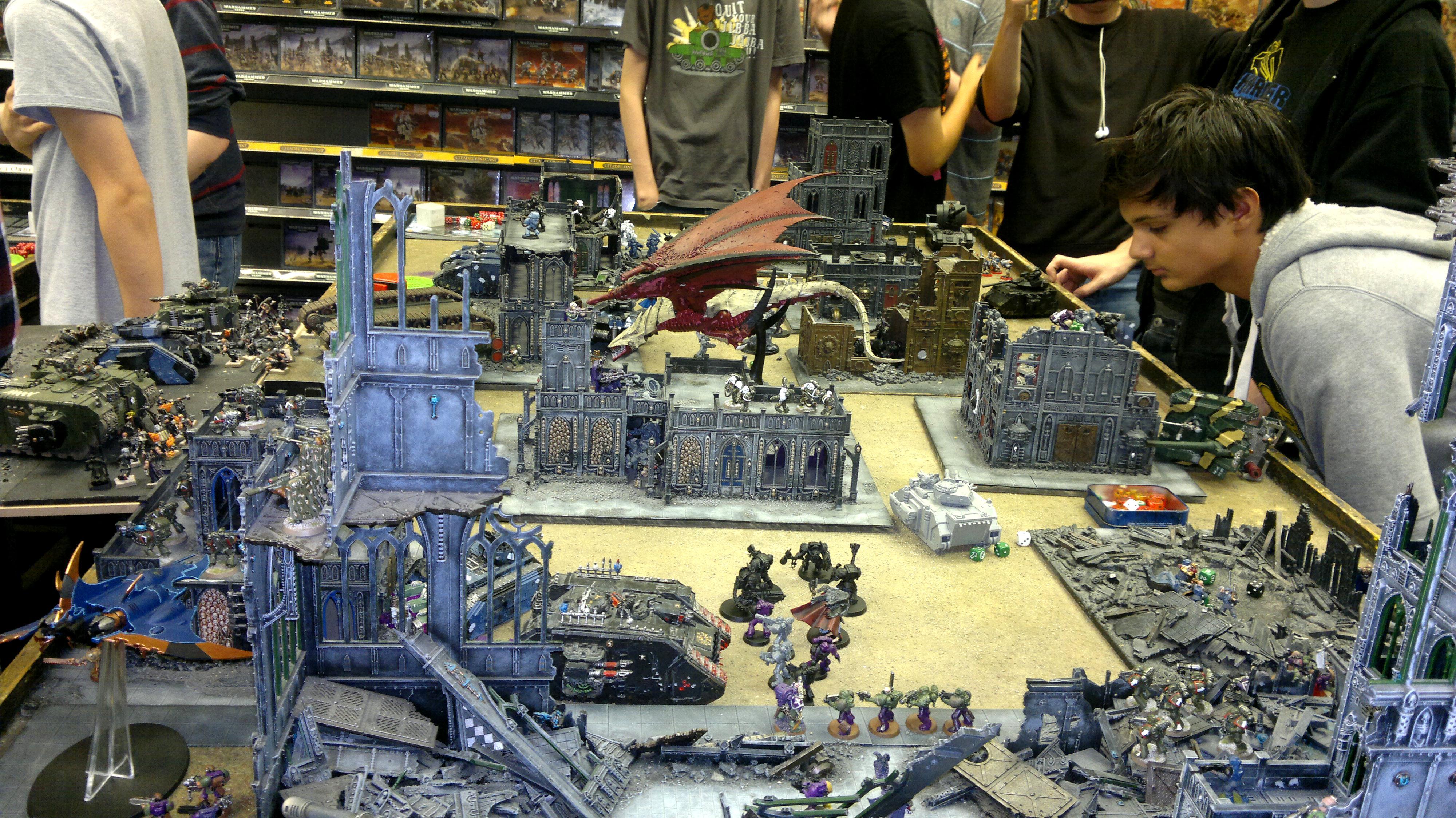 Apocalypse, Battle, Dark Eldar, Space Marines, Tyranids, Warhammer 40,000