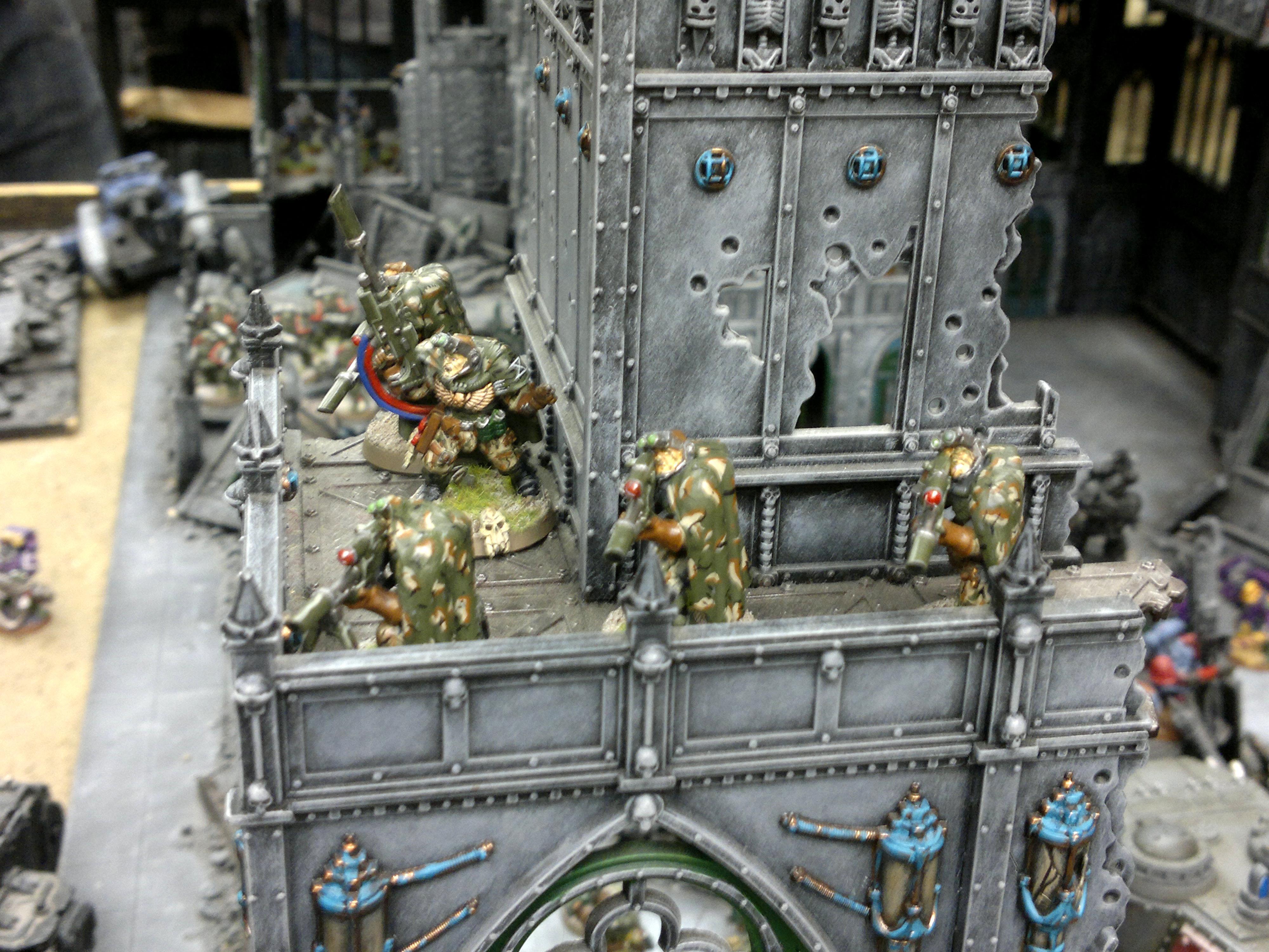 Apocalypse, Battle, Leman Russ, Ruins, Scouts, Warhammer 40,000