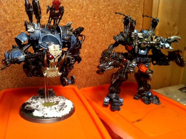 Assault On Black Reach, Big Boss, Deff, Dred, Dred Ork Scratchbuild, Looted, Nemesis, Orks, Running, Scratch Build, Snow
