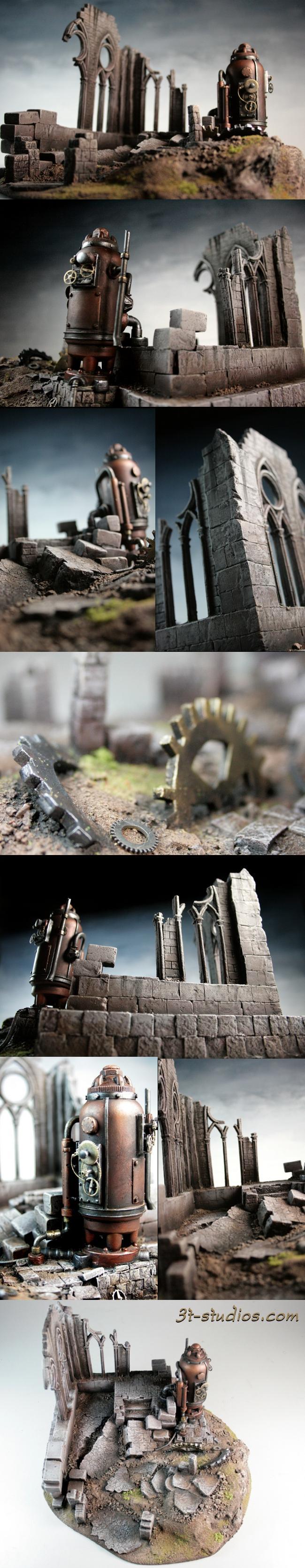 Gears, Gothic, Steampunk, Terrain, Warhammer Fantasy, Warmachine