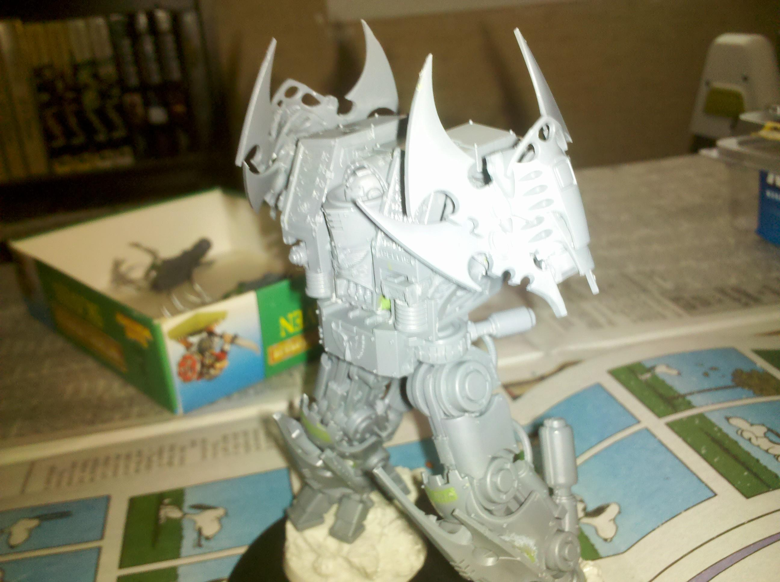 Chapter Master, Claws, Conversion, Dreadknight, Dreadnought, Space Marines, Terminator Armor