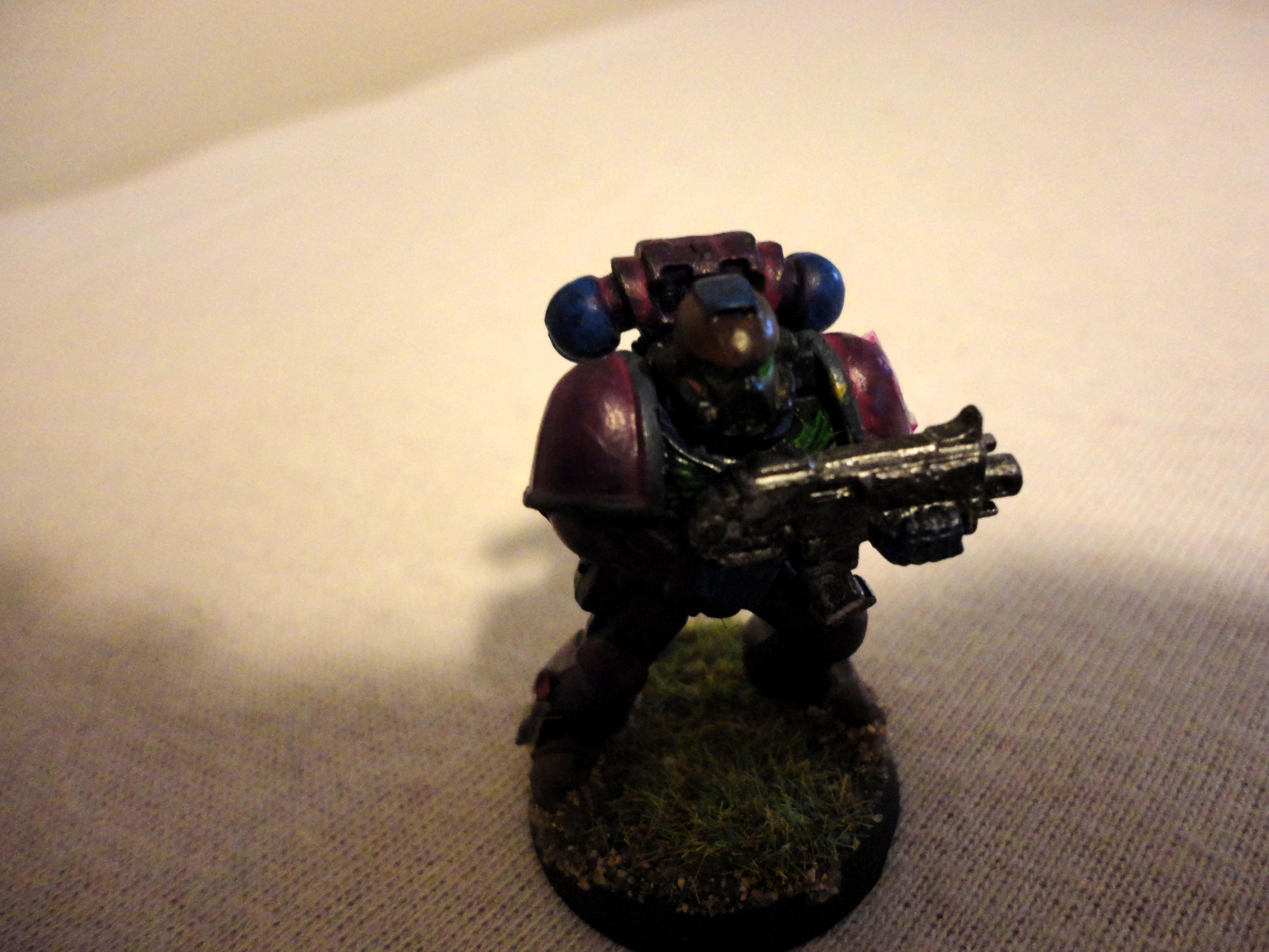Tactical marine front view