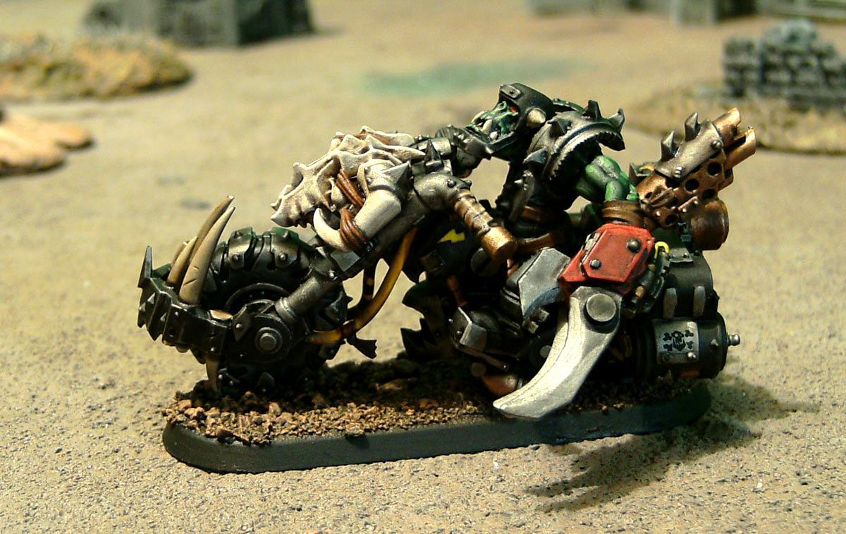Bike, Goffs, Motorcycles, Nob Bikers, Orks, Ouze, Power Claw, Power Klaw, Warbikers, Warhammer 40,000