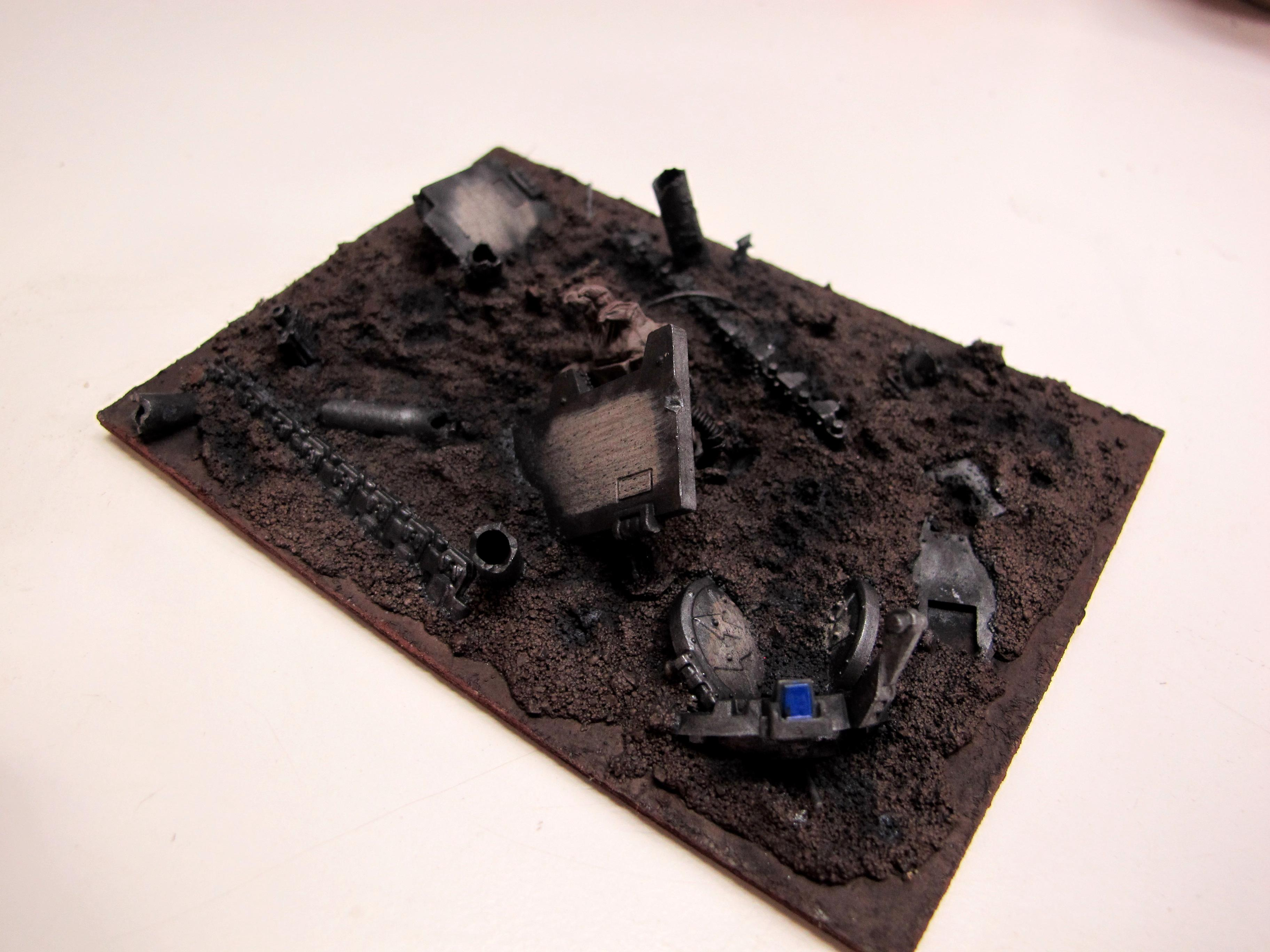Chaos Space Marines, Crater, Death Guard, Destroyed, Markers, Nurgle, Plague Marines, Ruins, Template, Vehicle, Vehicle Markers