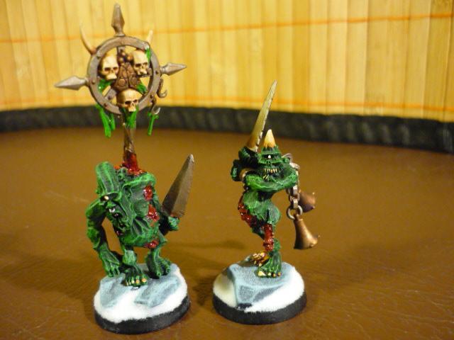 Chaos Daemons, Nurgle, Plaguebearers, Warhammer 40,000