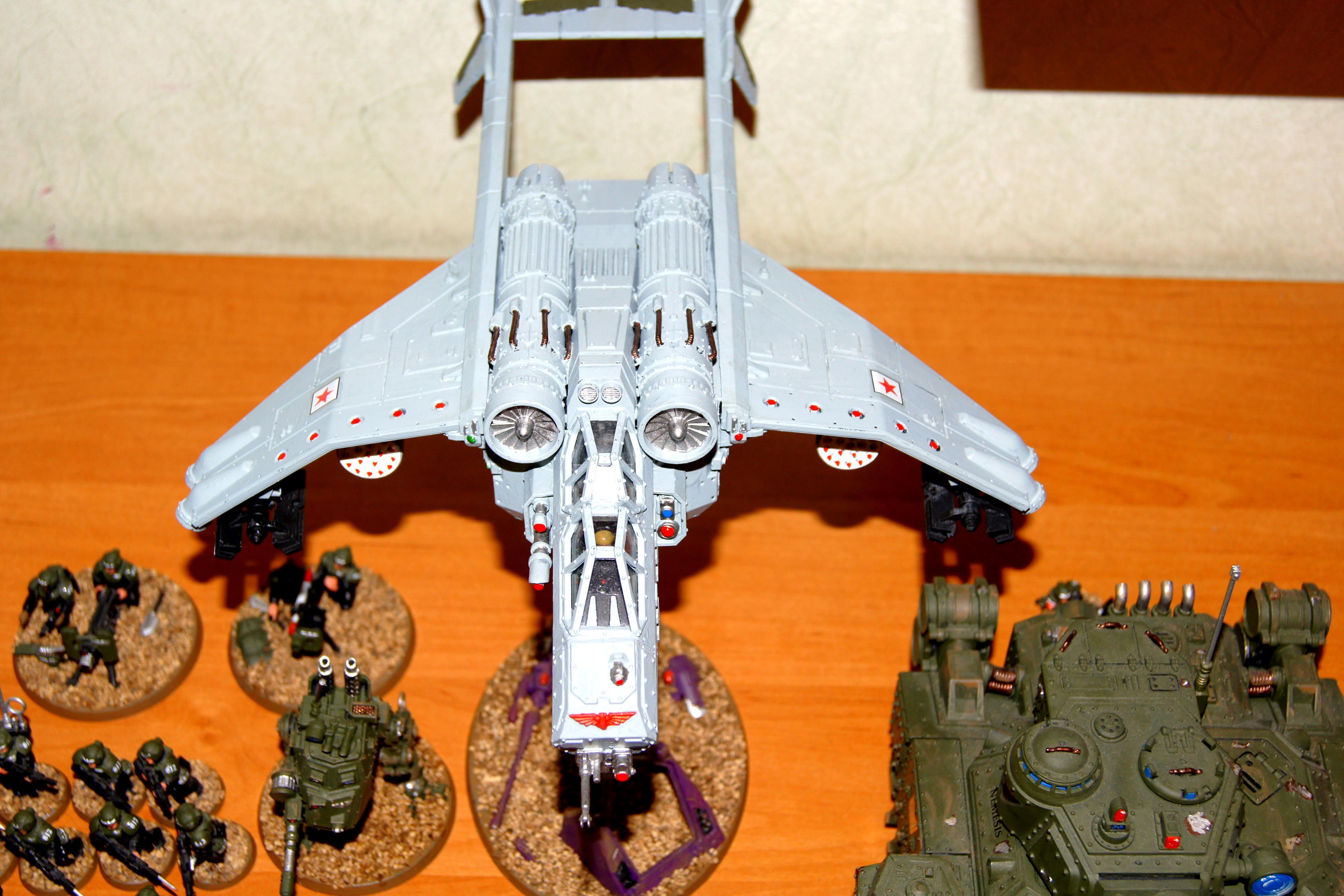 Army, Astra Militarum, Conversion, Heavy Weapon, Imperial Guard, Militarum Tempestus, Sentinel, Tempestus Scions, Valkyrie, Veteran