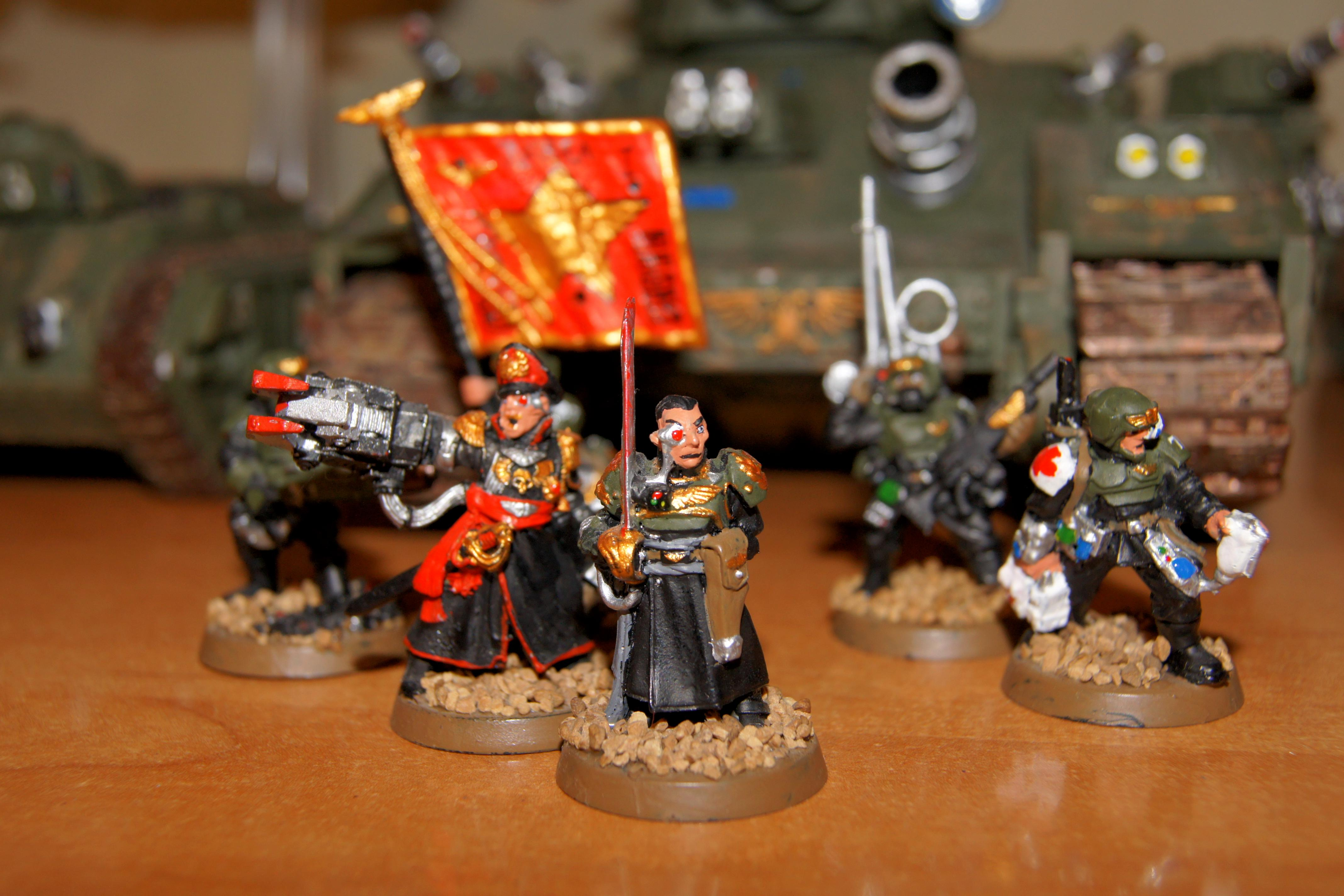 Army, Astra Militarum, Bane Wolf, Baneblade, Command Squad, Conversion, Heavy Weapon, Imperial Guard, Militarum Tempestus, Tempestus Scions, Veteran