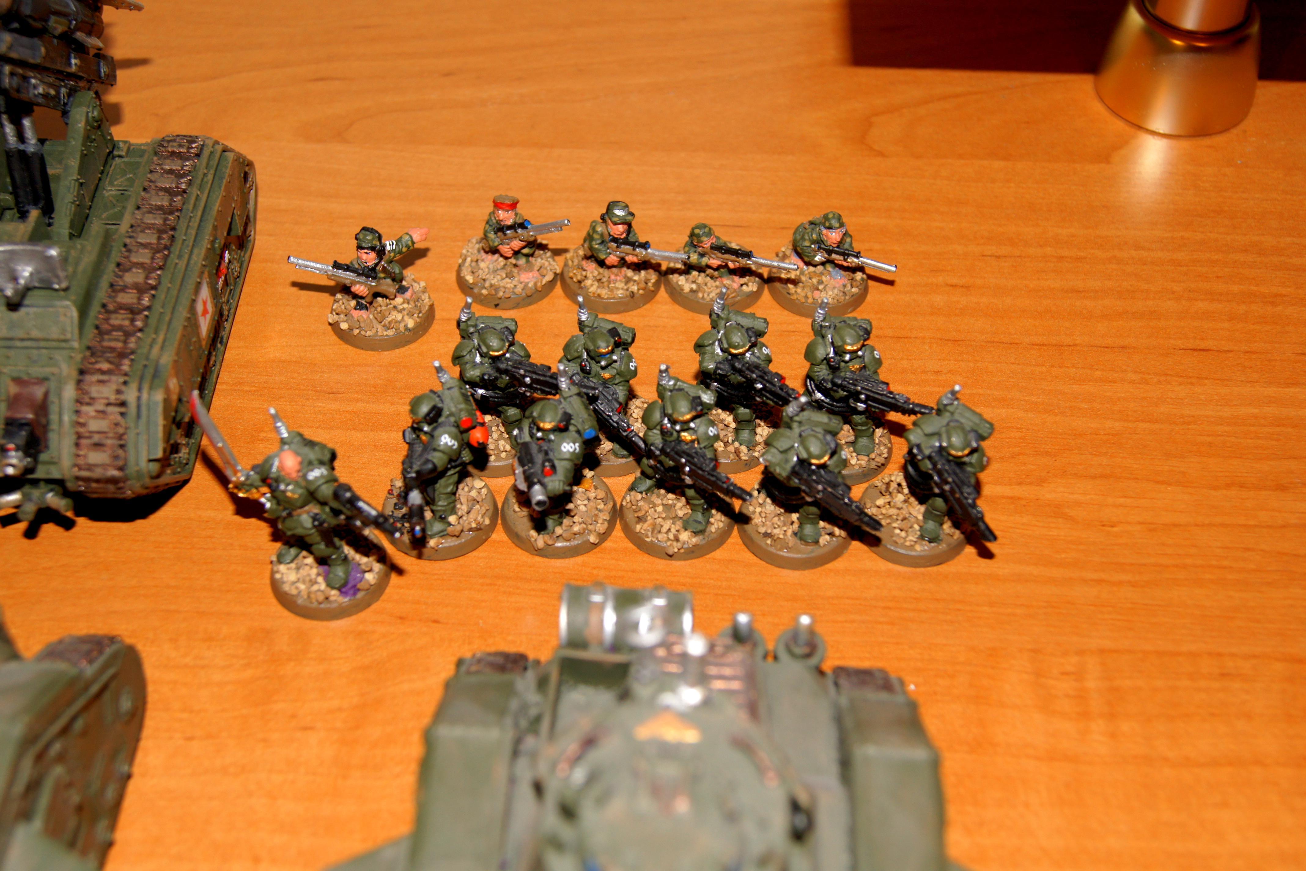 Army, Astra Militarum, Conversion, Deathstrike, Demolisher, Heavy Weapon, Imperial Guard, Leman Russ, Militarum Tempestus, Ratlings, Storm Troopers, Tempestus Scions, Veteran