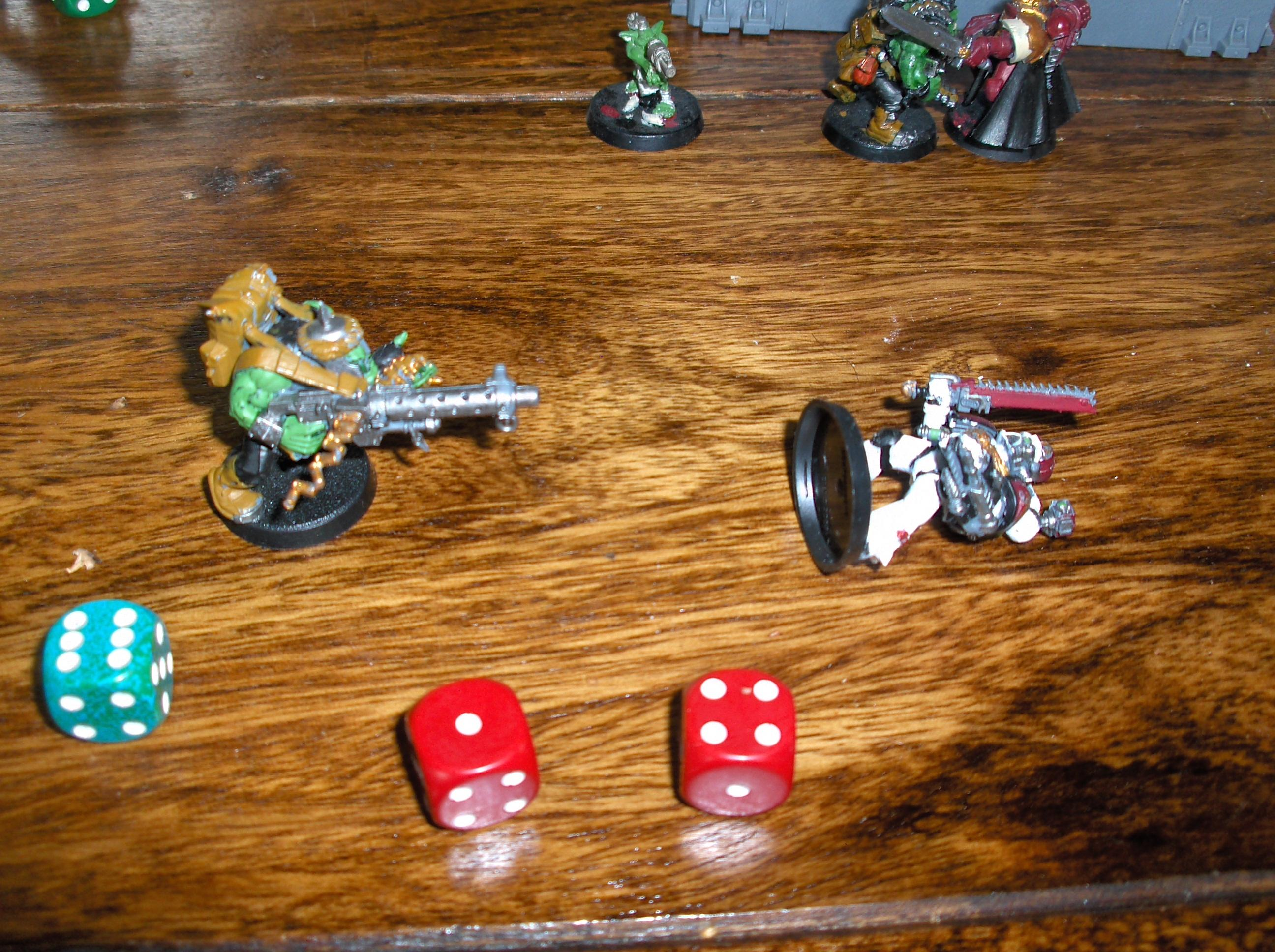 Battle Report, Dice, Orks, Space Marines, Warhammer 40,000