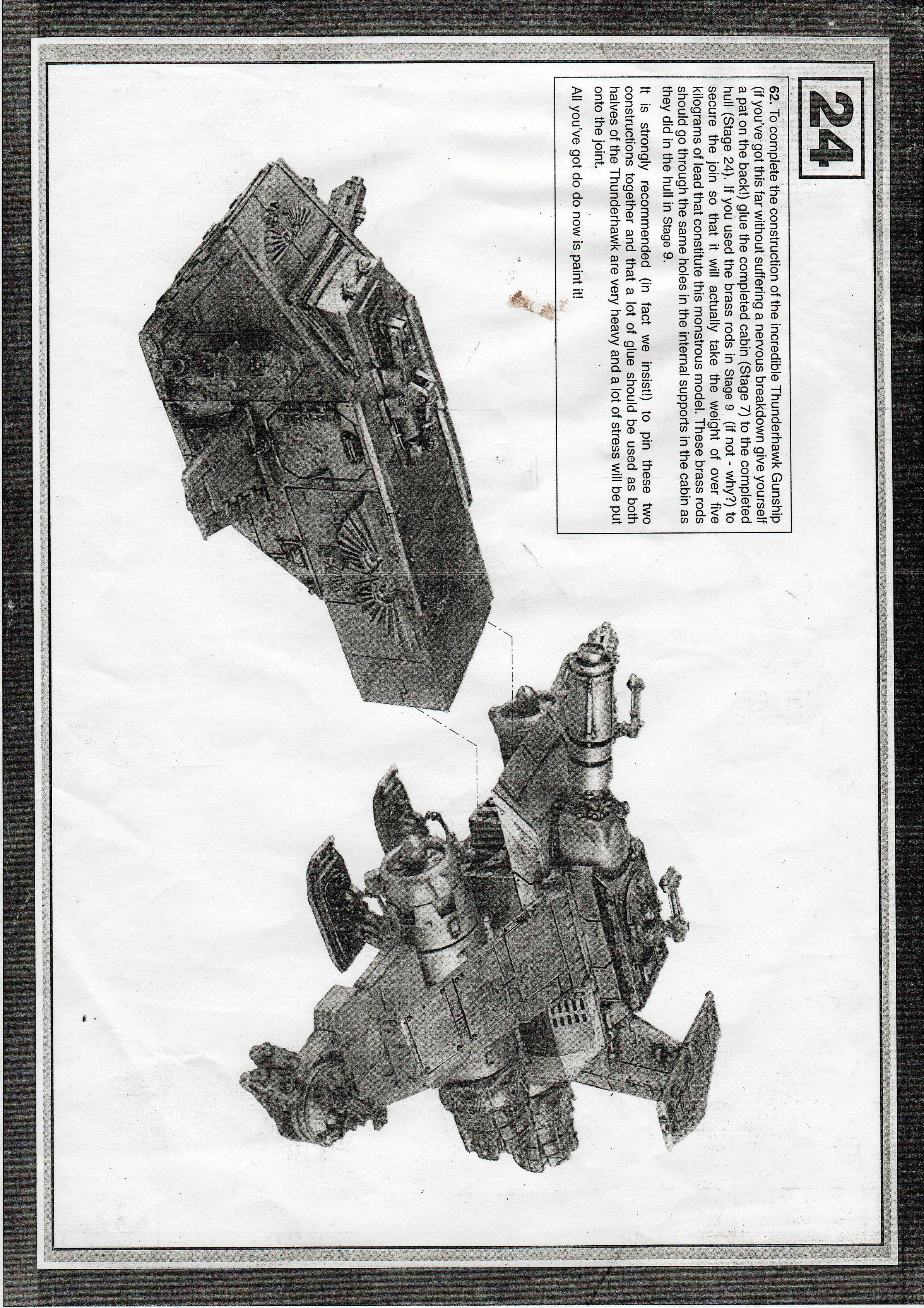 Instructions, Metal Thunderhawk, Space Marines, Thunderhawk