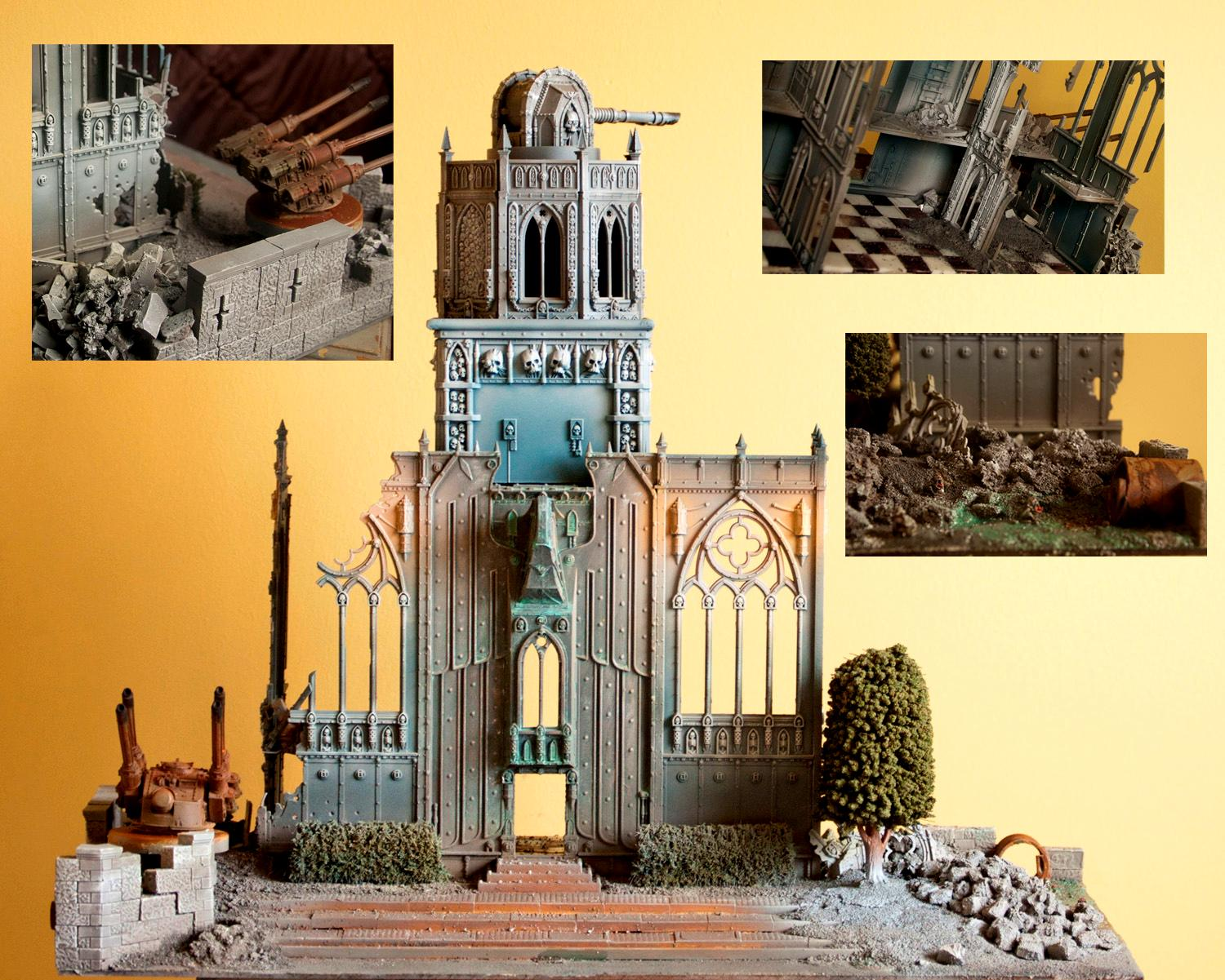 Cities Of Death, Fortress, Planetary Laser, Ruins, Terrain, Warhammer 40,000