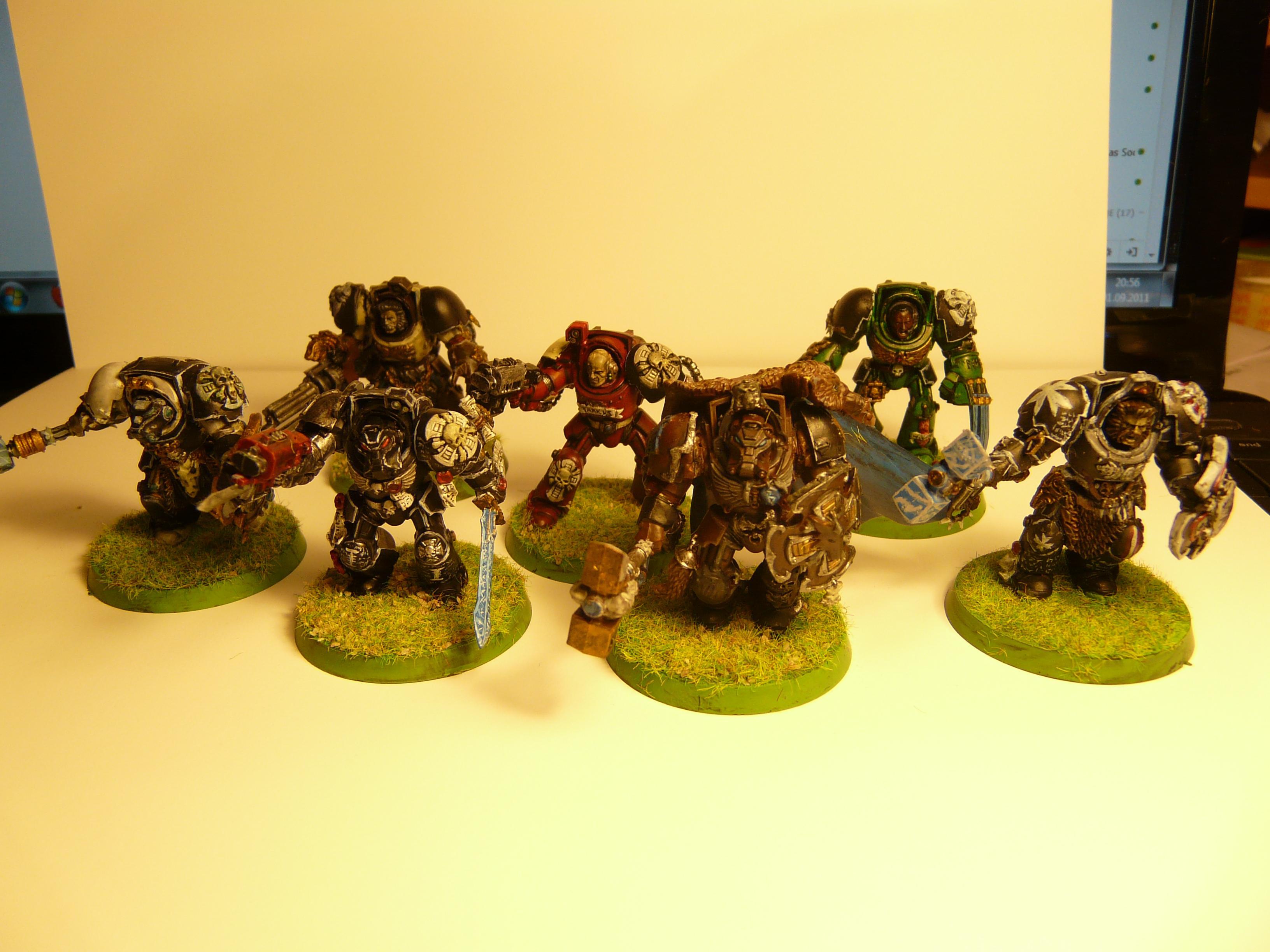 Blood Ravens, Space Marines, Storm Shield, Terminator Armor, Thunder Hammer