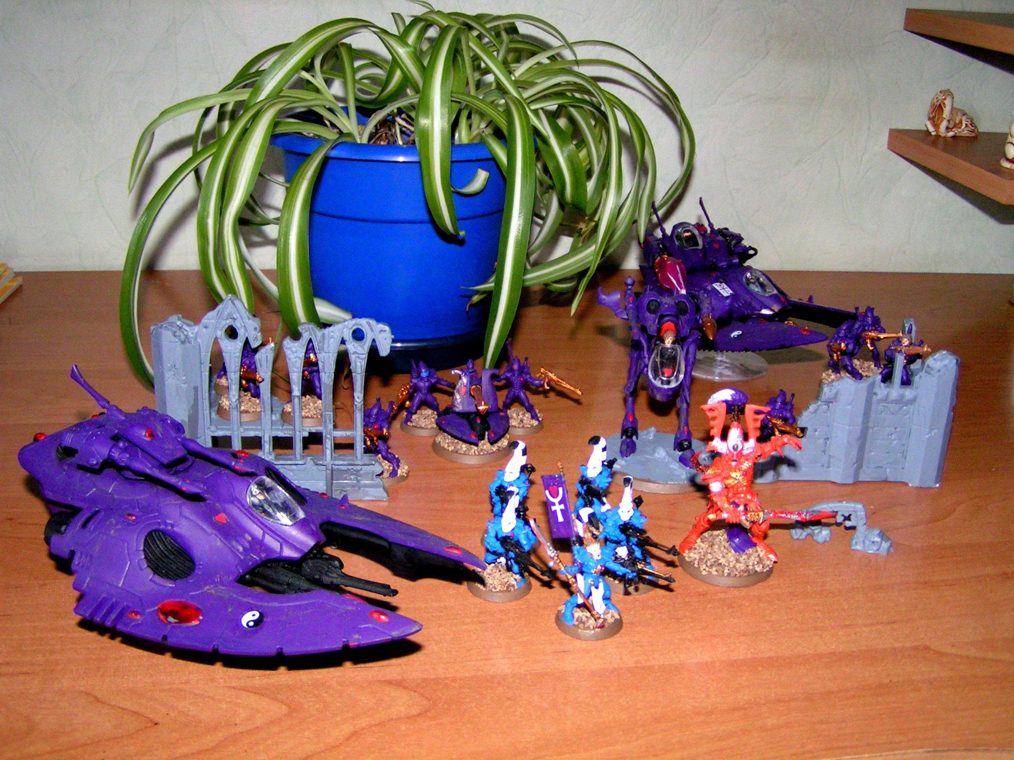 Avatar, Battleforce, Dire Avengers, Eldar, Fire Prism, Guardians, War Walker, Wave Serpent