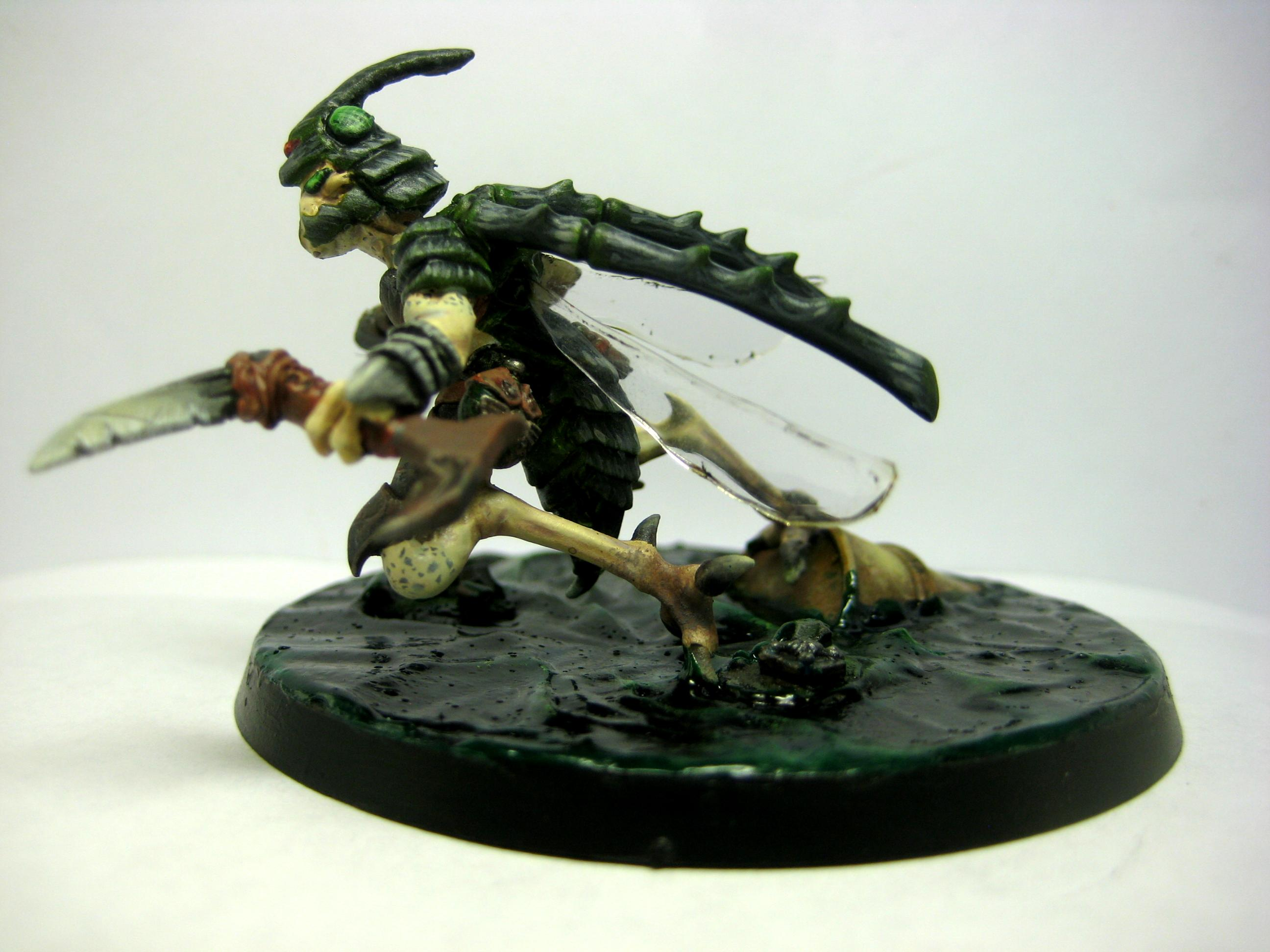Assassin, Conversion, Greenstuff, Samurai, Sorcerer, Stingwing, Tau, Tzeentch, Warhammer 40,000, Warhammer Fantasy