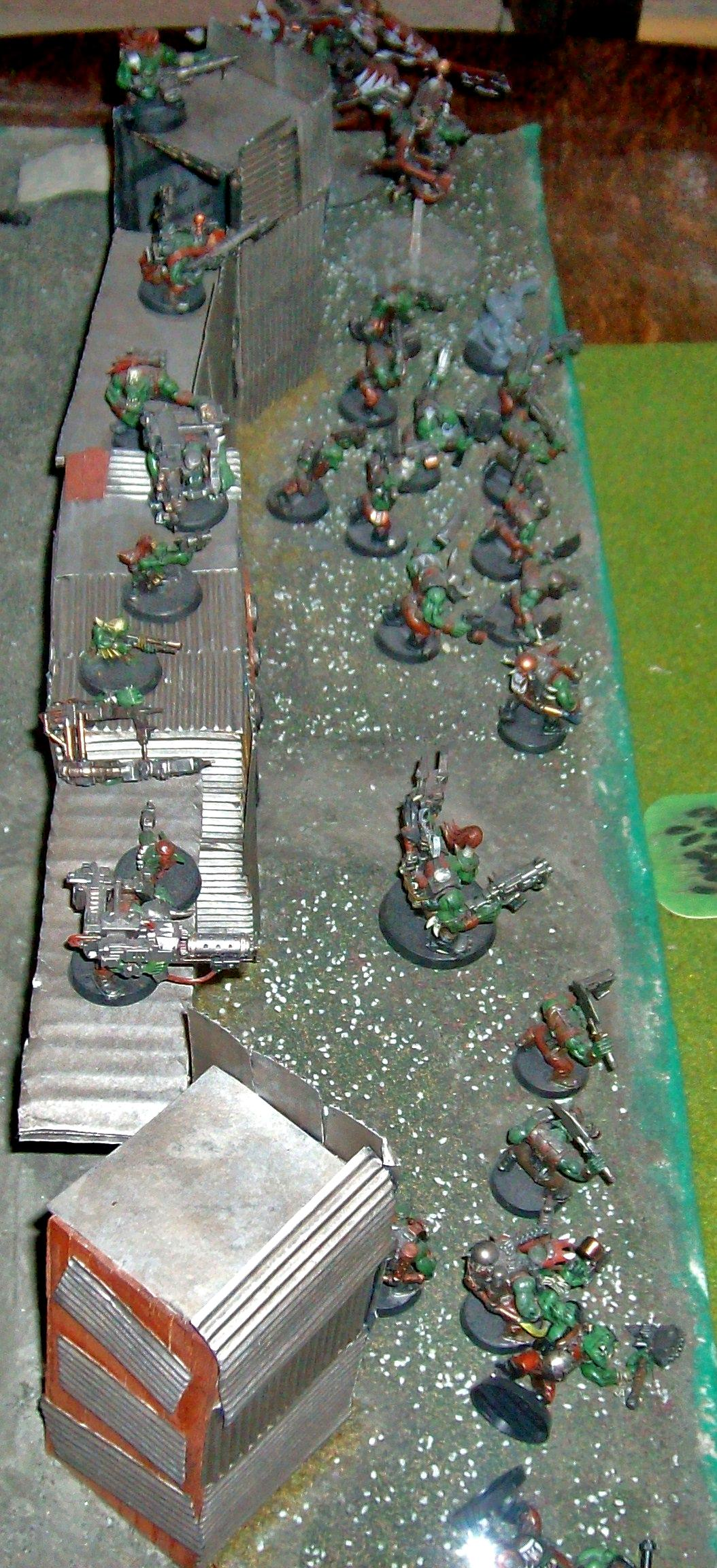 28mm Figures, Acrylic Paints, Homemade Fort, Military Minitures, Ork Fort, Orks, Wargame Minitures, Warhammer Figures