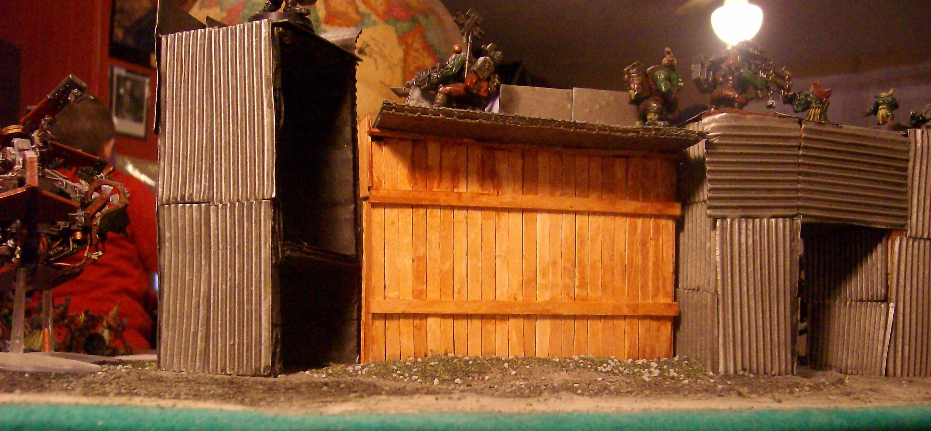 28mm Figures, Acrylic Paints, Homemade Fort., Military Minitures, Ork Fort, Wargame Minitures, Warhammer Figures
