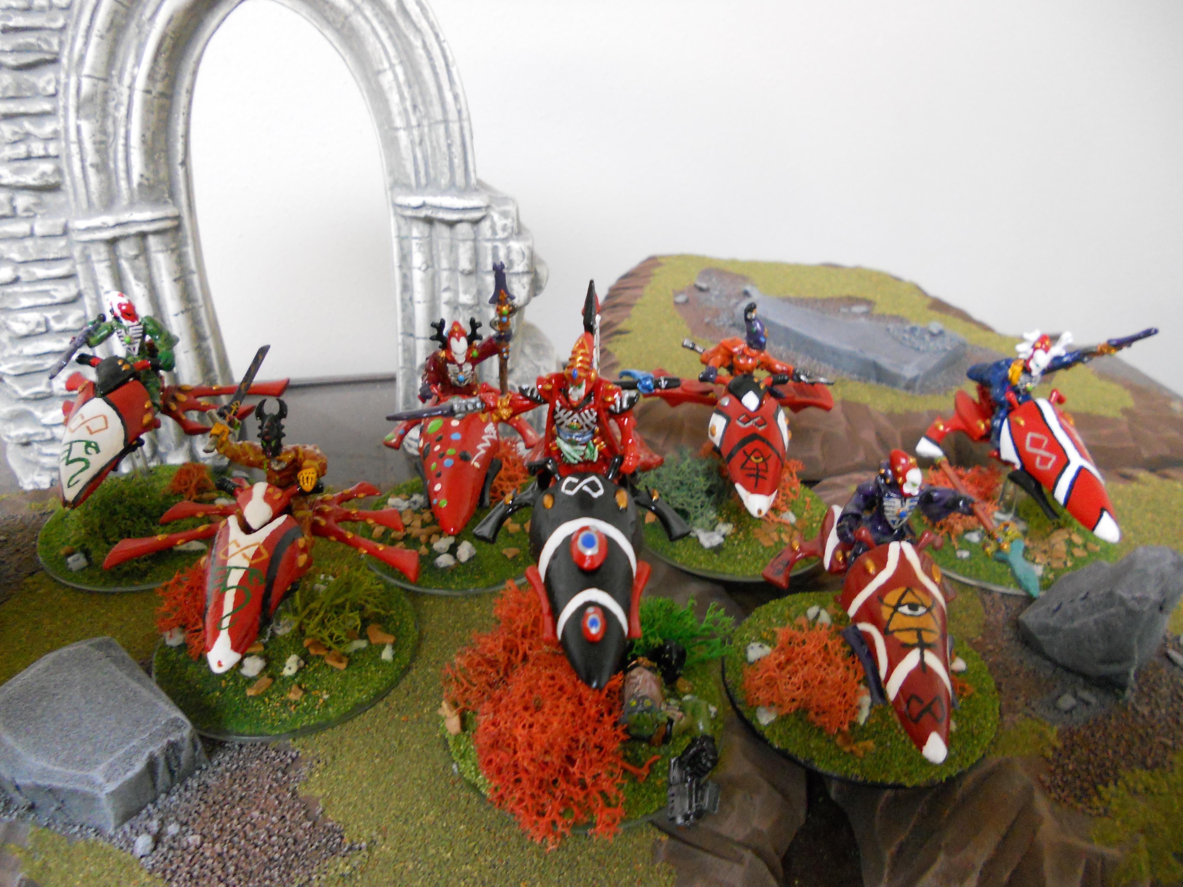 Eldar, Farseer, Jetbike, Saim-hann, Seer Council, Warhammer 40,000, Warhammer 40k Eldar Saim-hann Army, Warlock