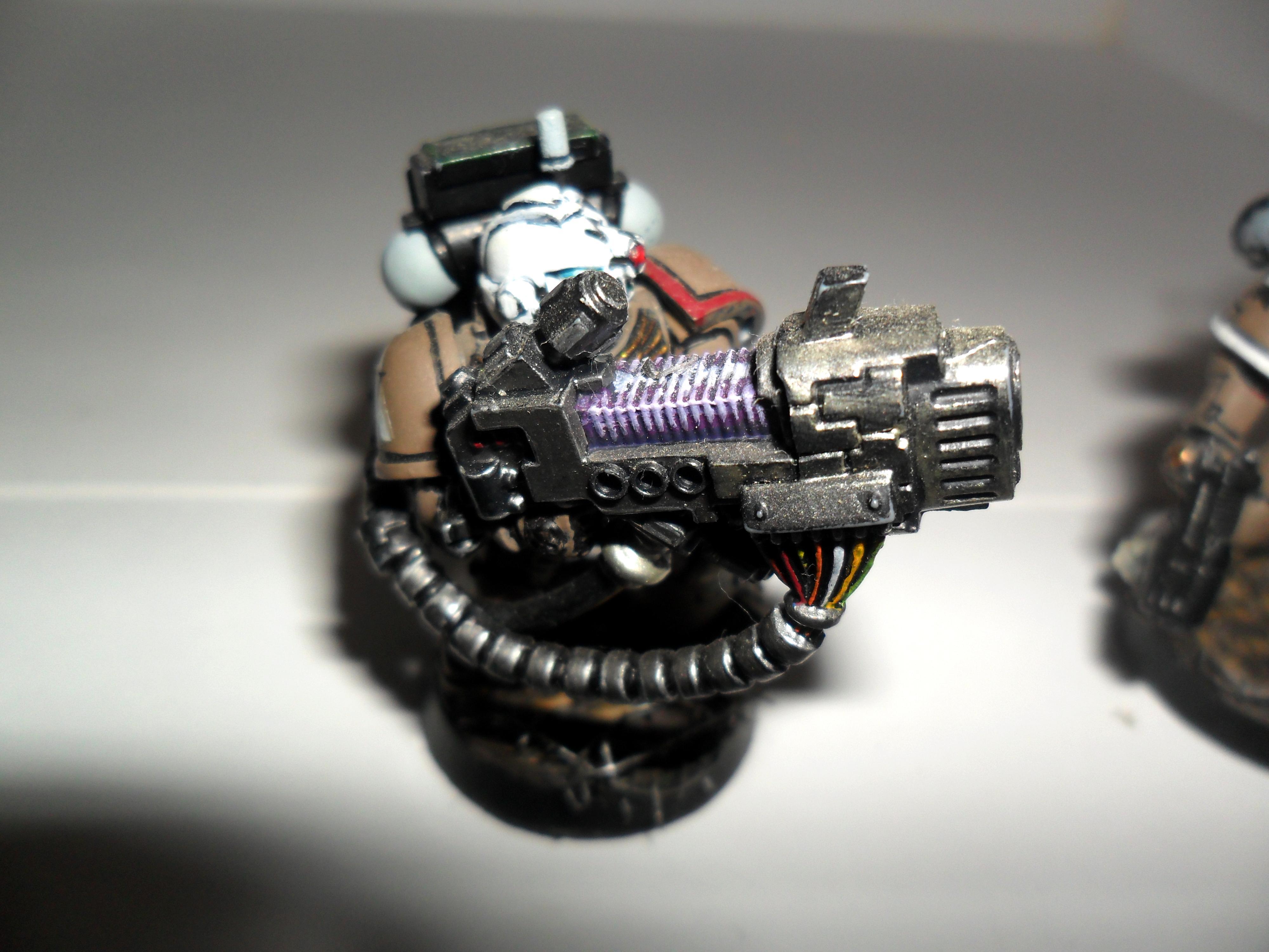 Space Marines, heavy las-cannon