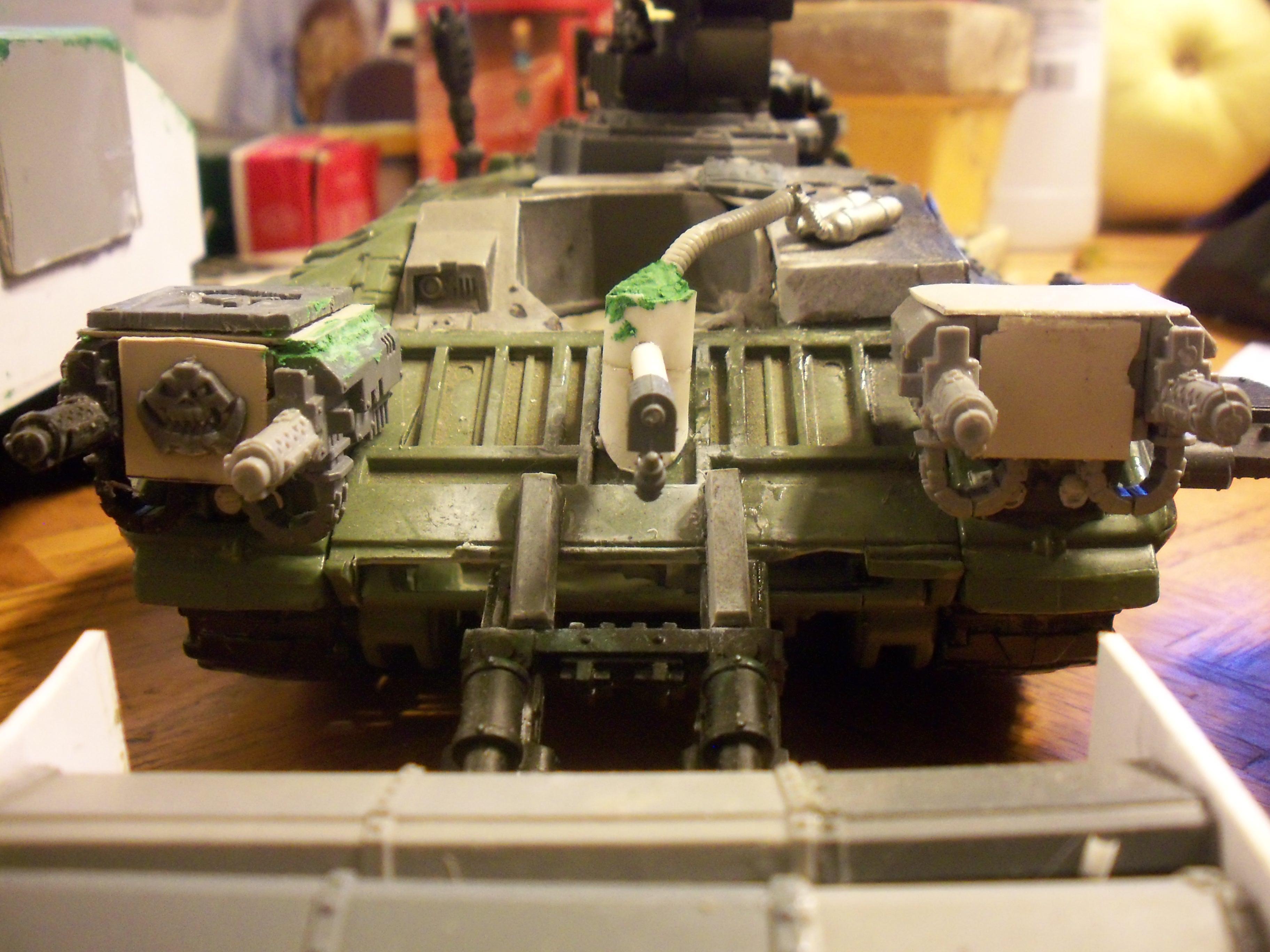Conversion, Orks, front of killkrusher tank scratchbuild