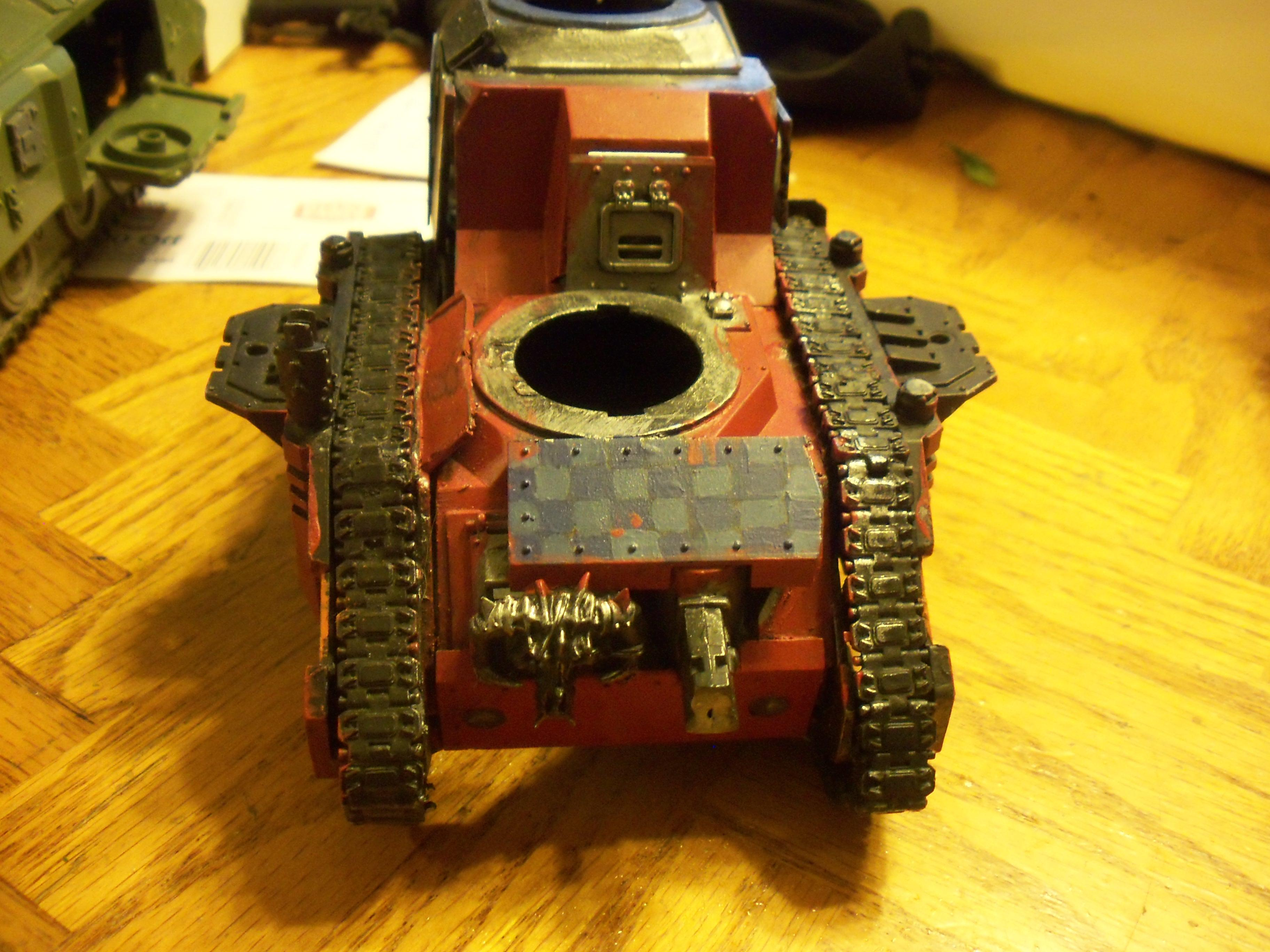 Conversion, Orks, partially painted battle wagon conversion