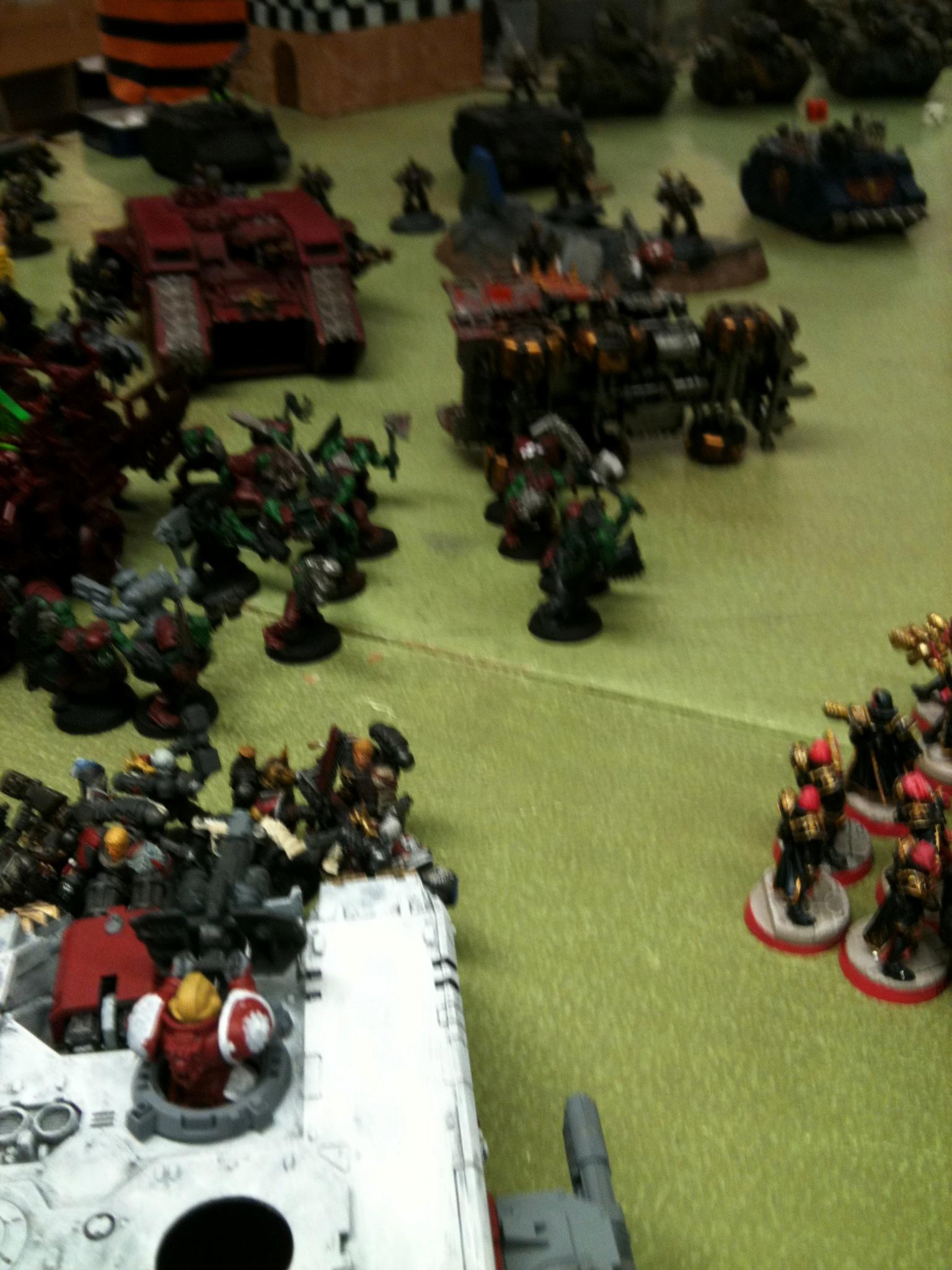 The orks' rush is slowed but not halted