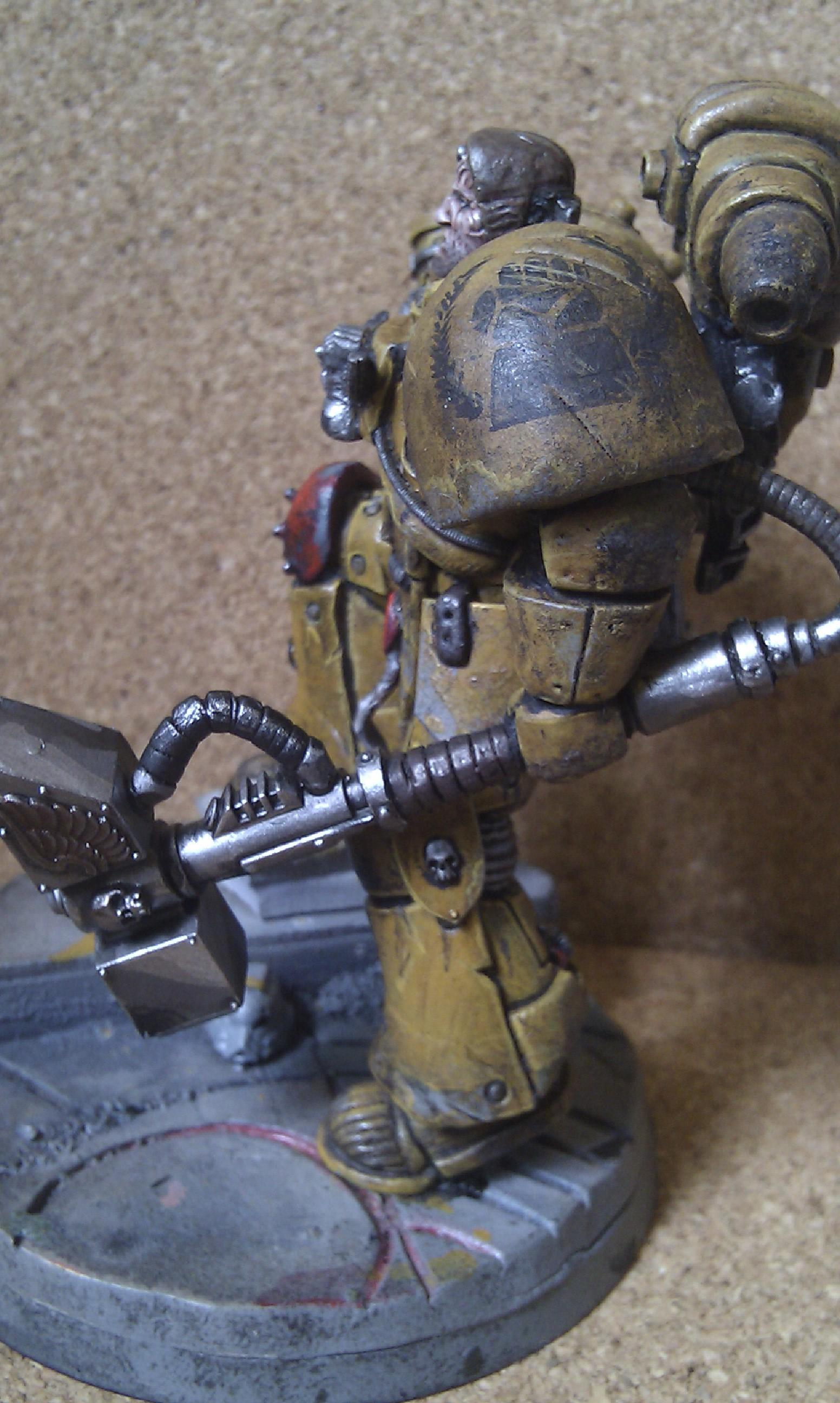Imperial Fists, Space Marines, Thunder Hammer, Warhammer 40,000