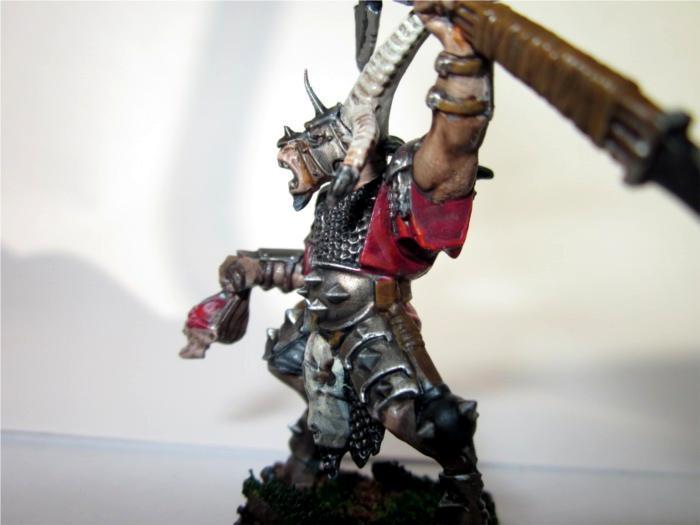 Beastmen, Bestigor, Champion, Warhammer Fantasy