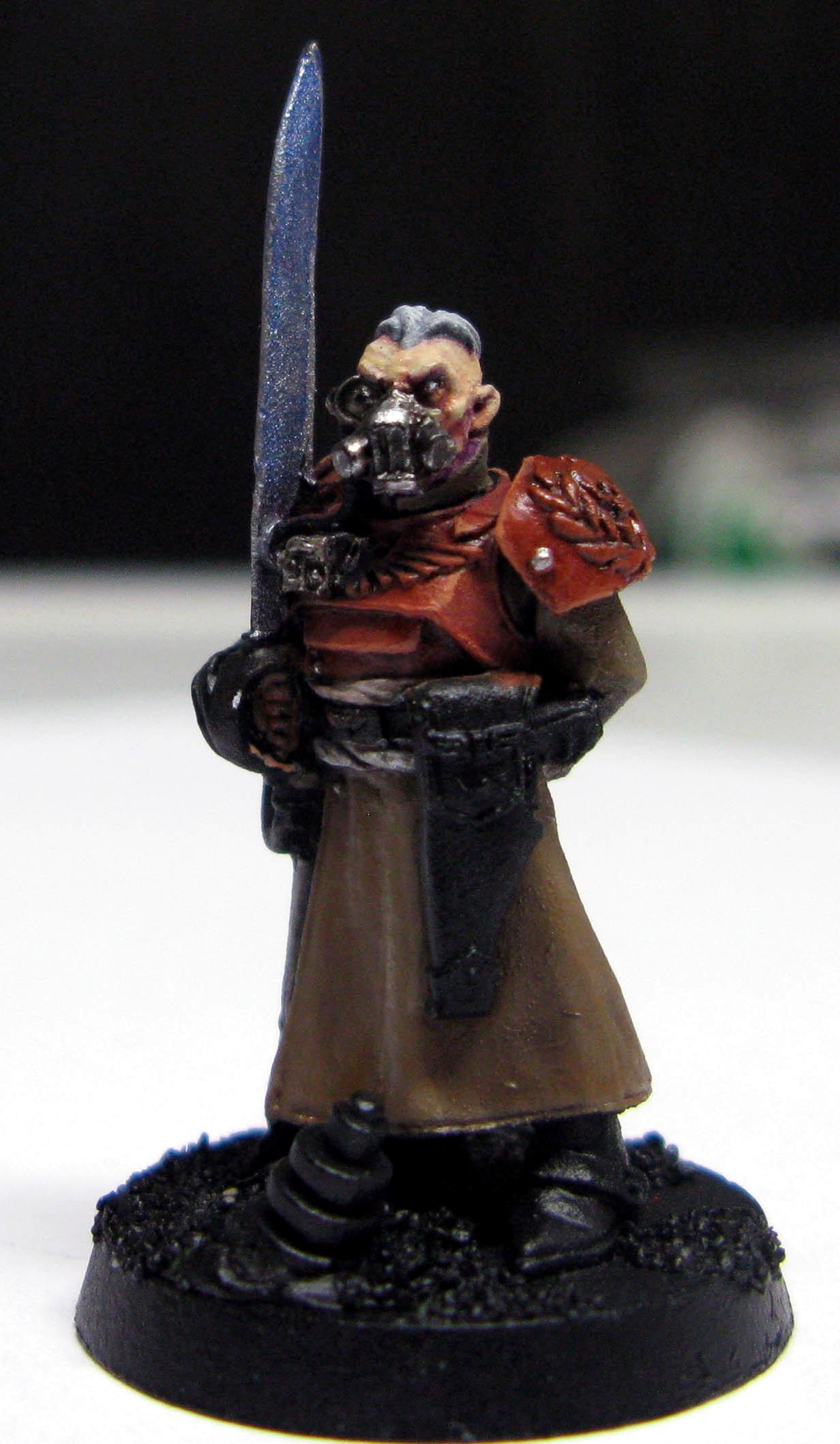 Gas Mask, Imperial Guard, Master Of The Fleet, Regimental Advisors, Work In Progress