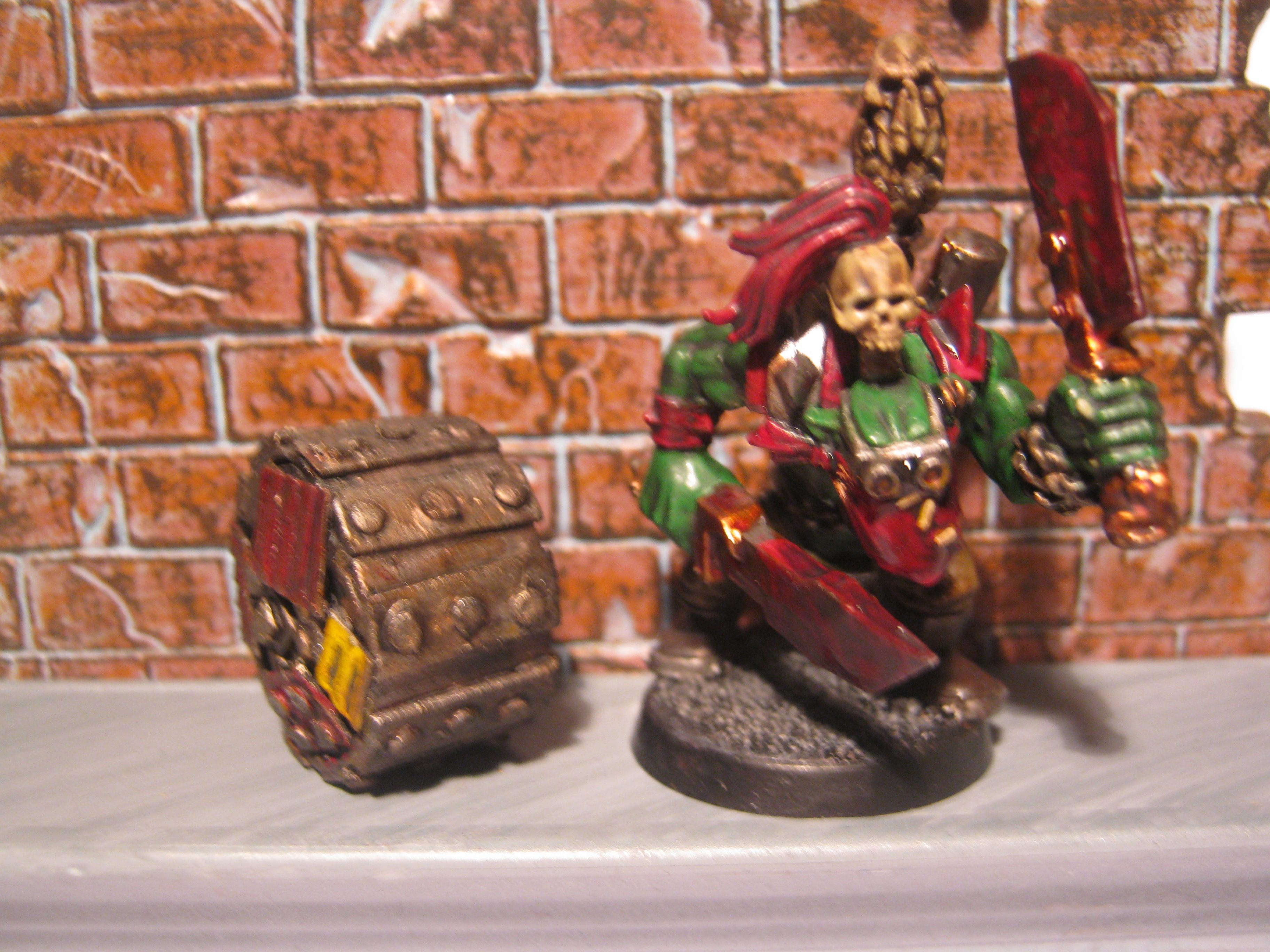 Boss Snikrot, Conversion, Kommando, Orks, Scratch Build, Trukk Tyre, Warhammer 40,000
