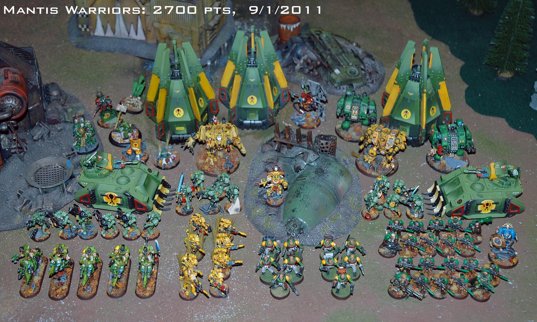 Army, Mantis Warriors, Space Marines, Warhammer 40,000